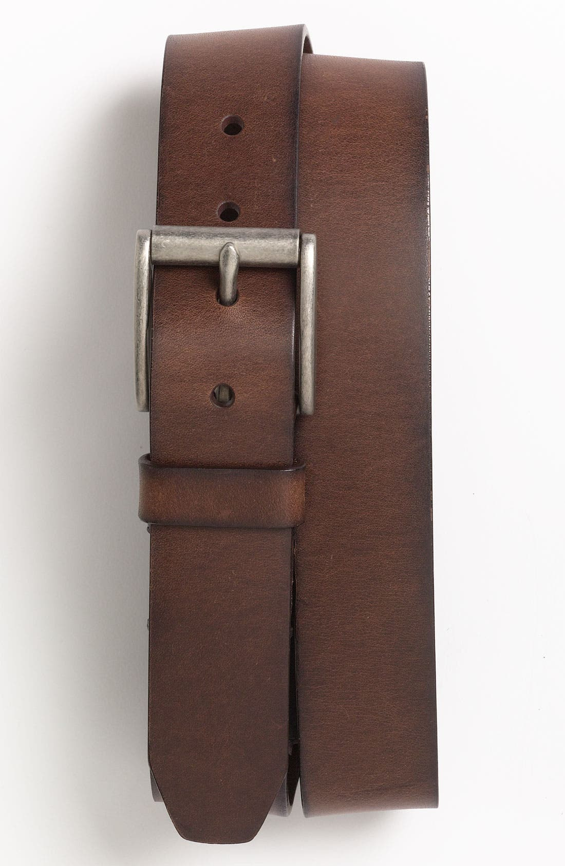 'Dacey' Leather Belt,                         Main,                         color, DARK BROWN