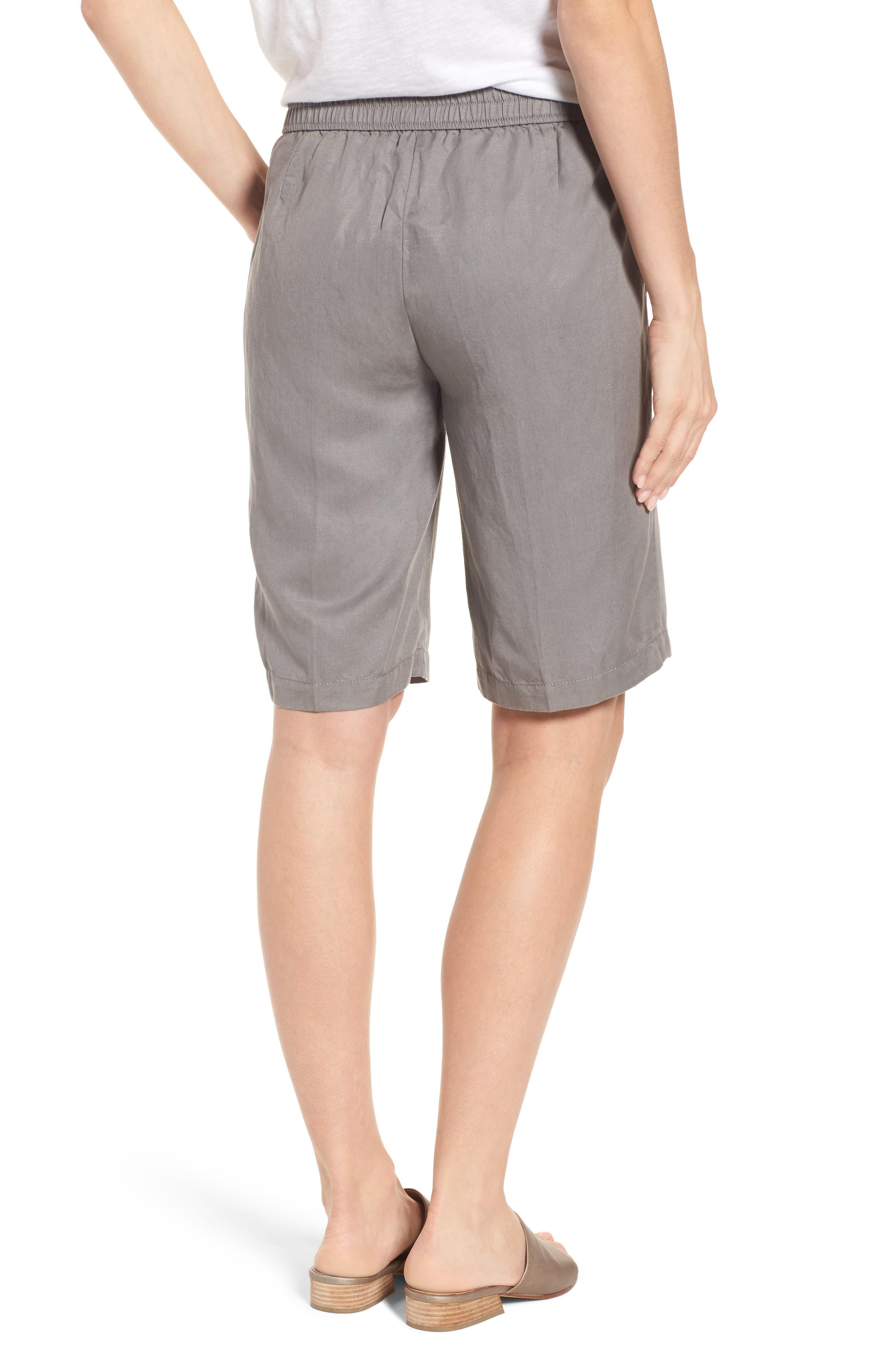 Tencel<sup>®</sup> Lyocell & Linen Walking Shorts,                             Alternate thumbnail 5, color,