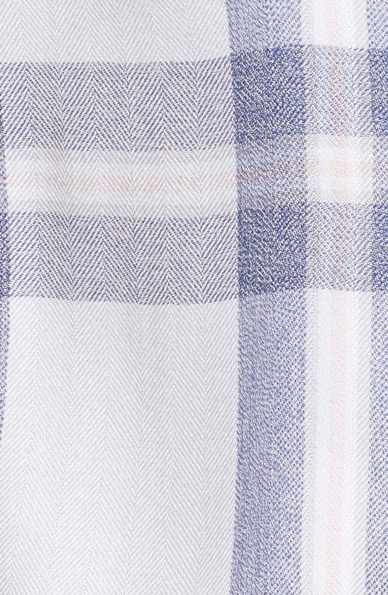 Plaid Short Pajamas,                             Alternate thumbnail 5, color,                             106
