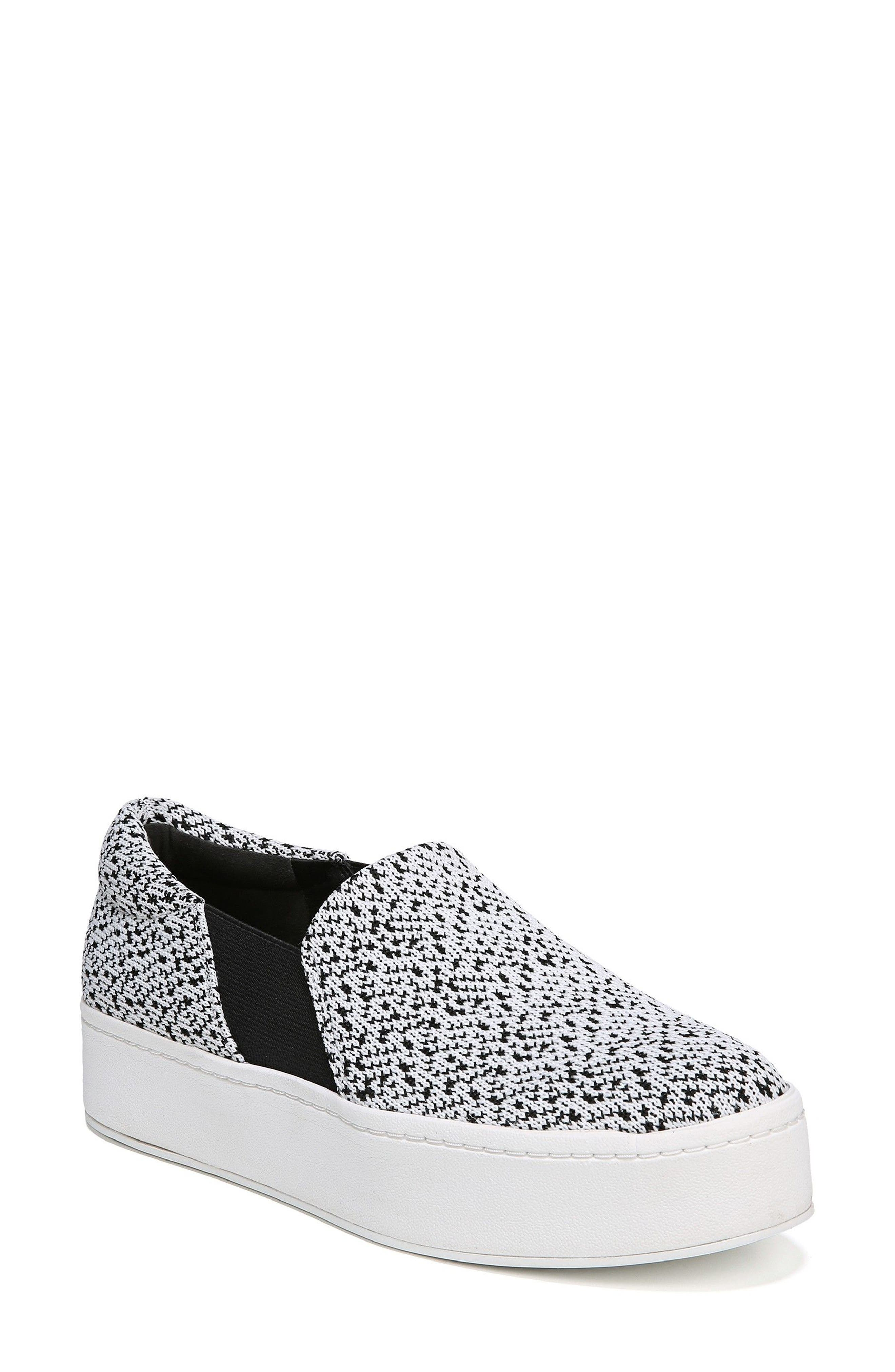 Warren Slip-On Sneaker,                             Main thumbnail 1, color,                             WHITE/ BLACK