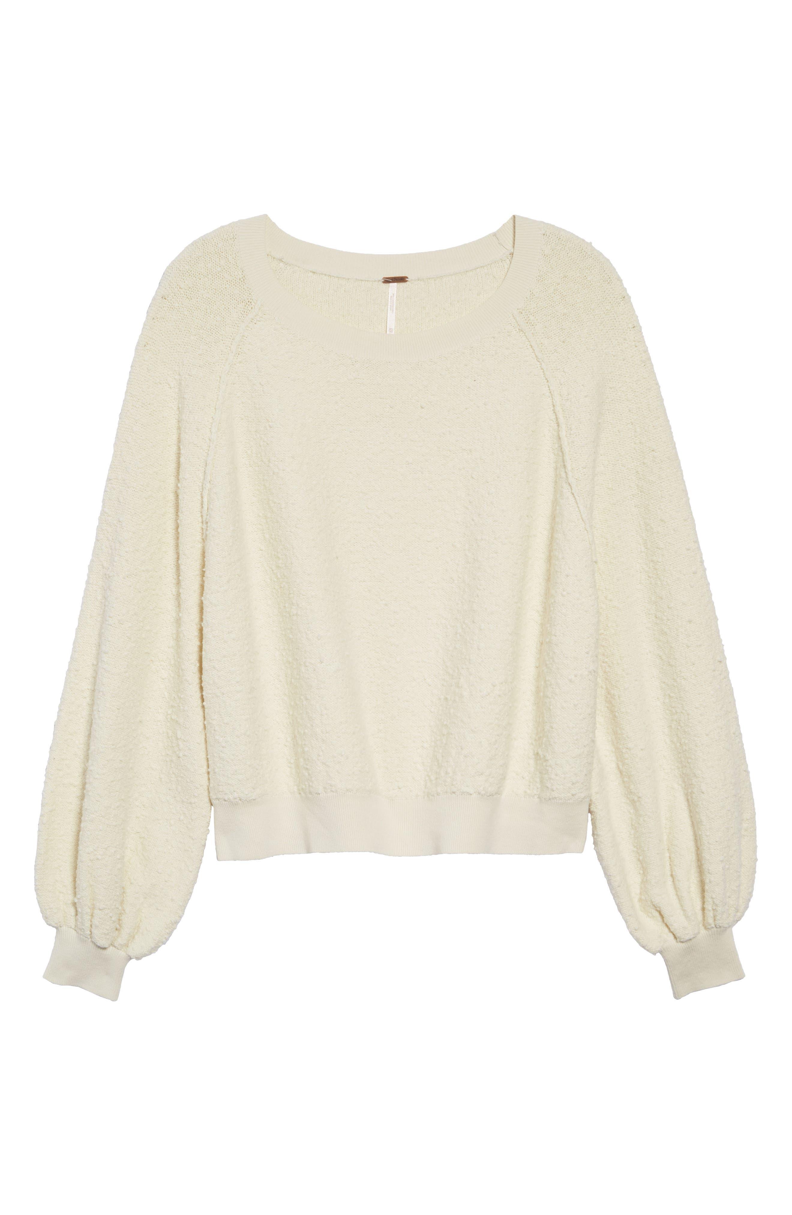 Found My Friend Sweatshirt,                             Alternate thumbnail 6, color,                             IVORY