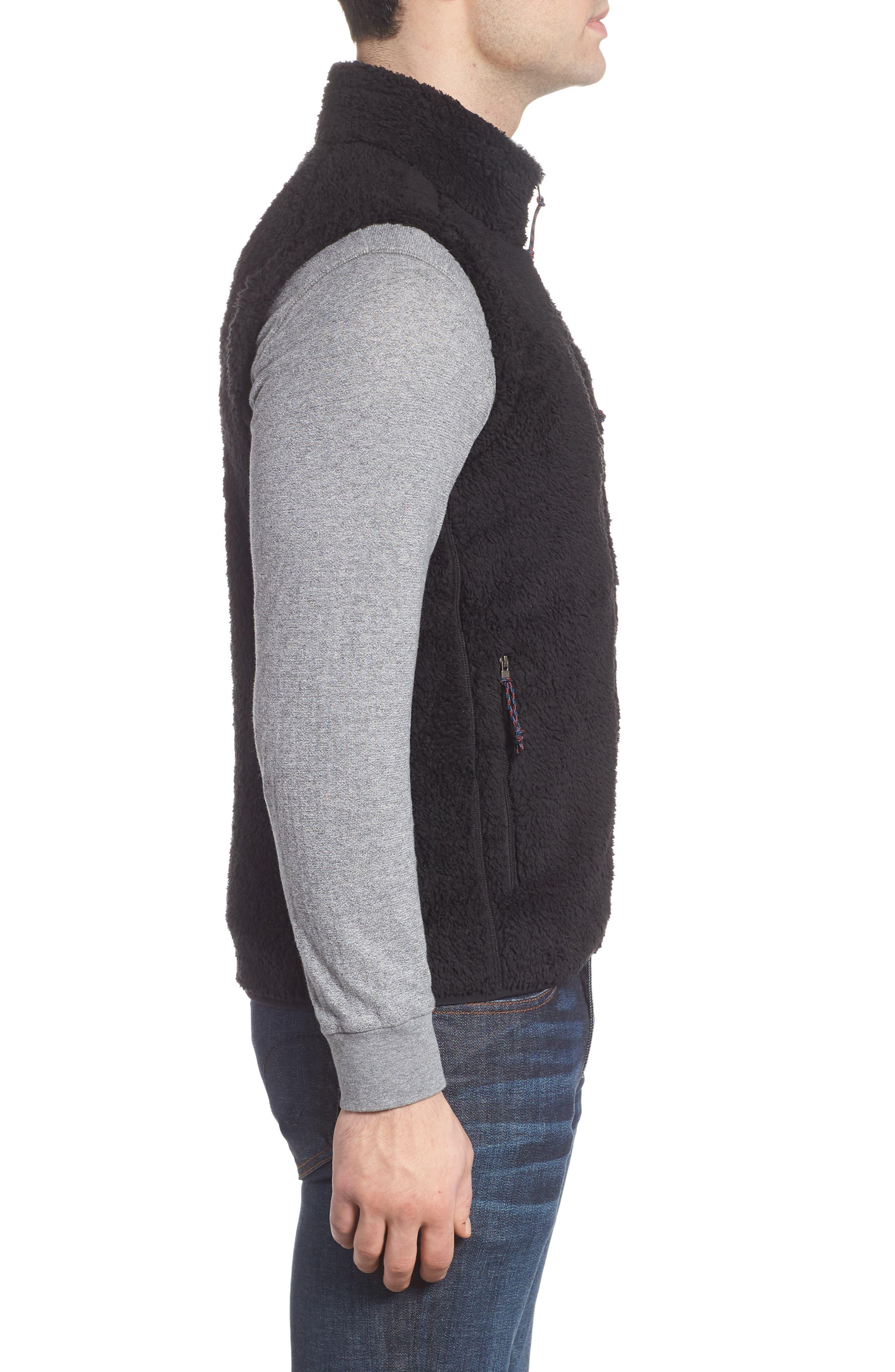 Los Gatos Fleece Vest,                             Alternate thumbnail 3, color,                             BLACK