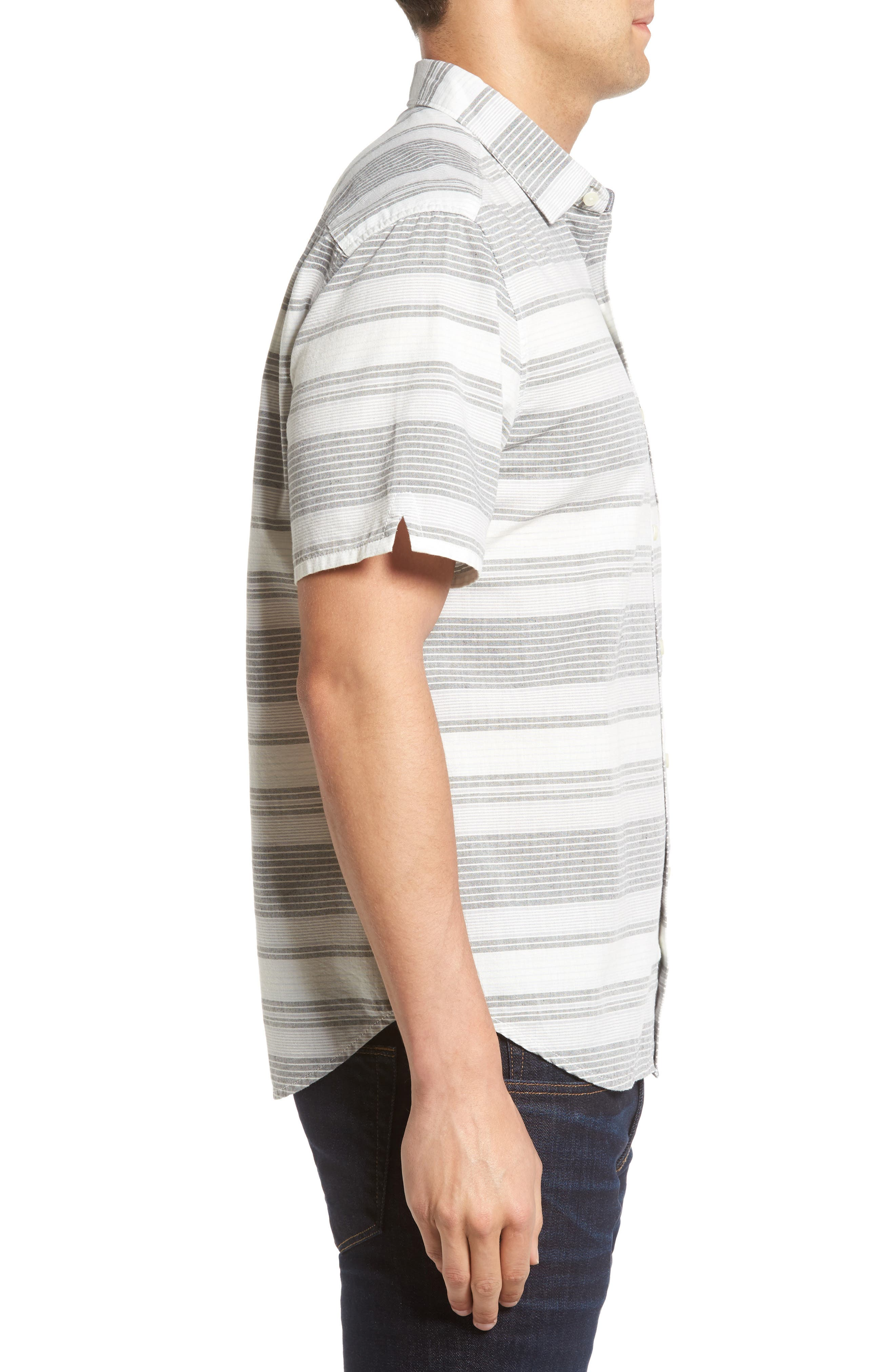 Clambake Stripe Standard Fit Sport Shirt,                             Alternate thumbnail 3, color,