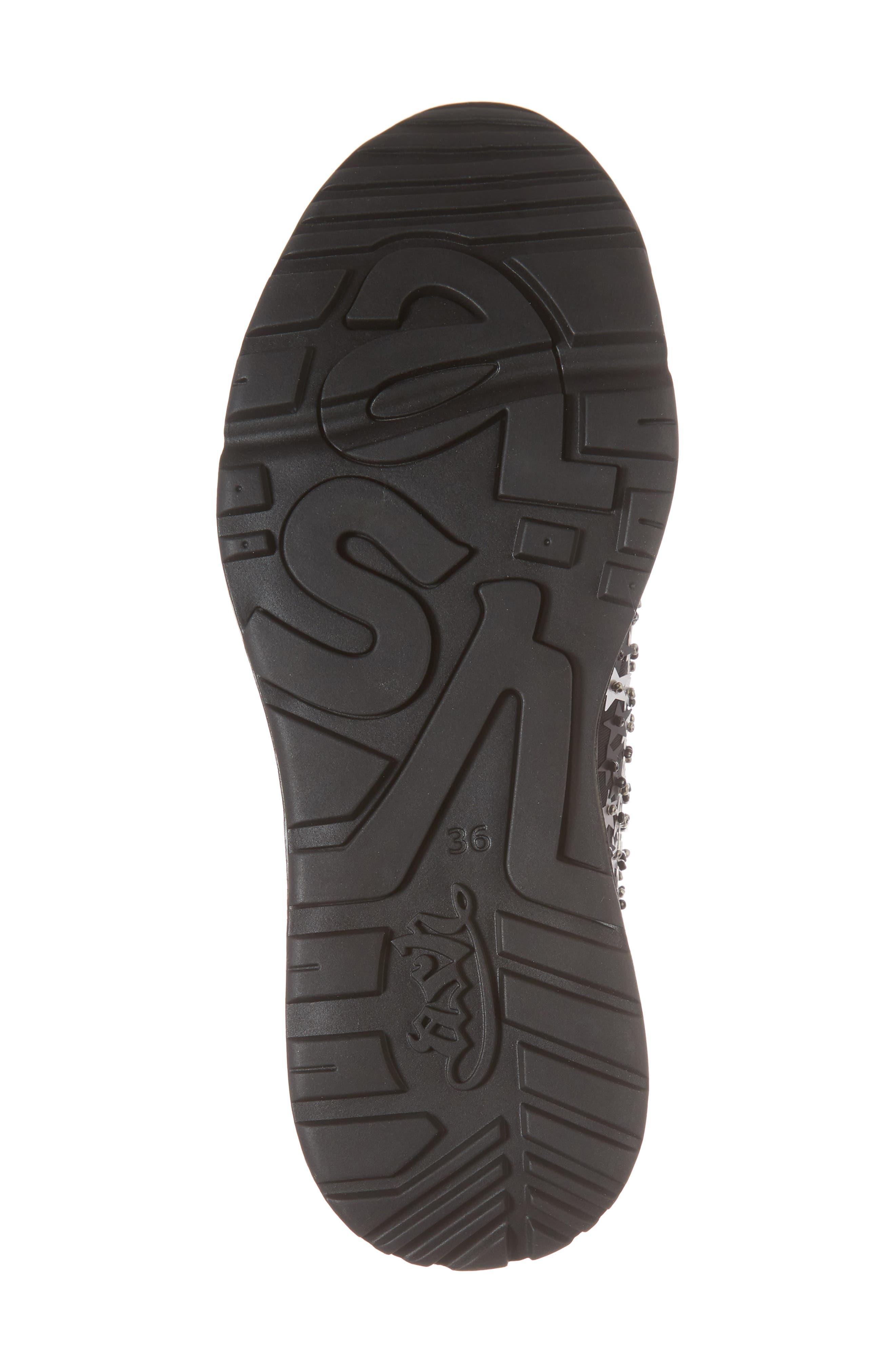 Lighting Star Platform Sock Sneaker,                             Alternate thumbnail 6, color,                             006