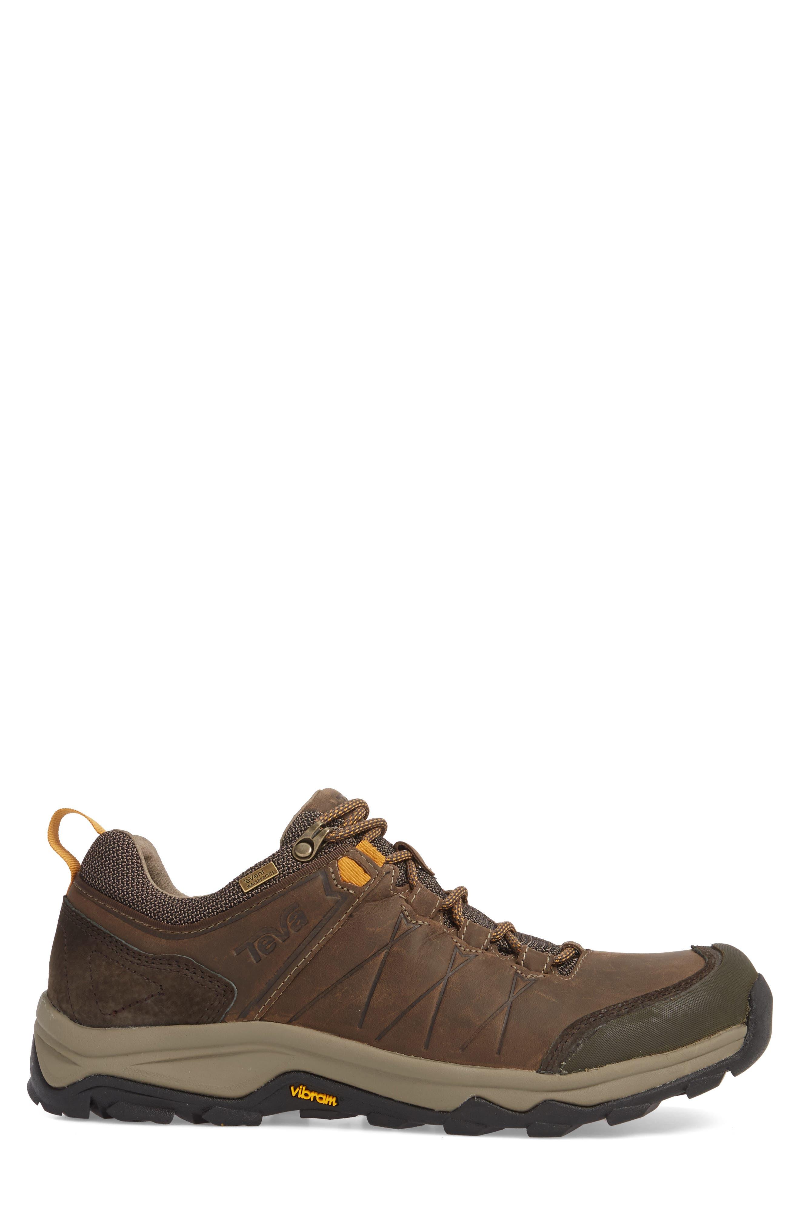 Arrowood Riva Waterproof Sneaker,                             Alternate thumbnail 3, color,                             WALNUT LEATHER