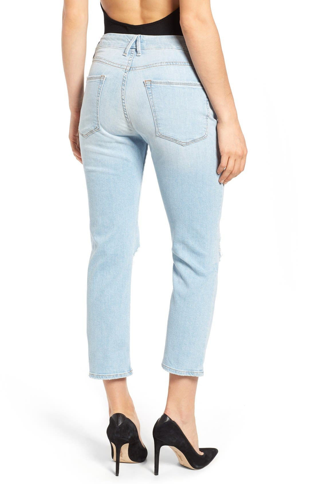 Good Cuts High Rise Boyfriend Jeans,                             Alternate thumbnail 2, color,                             401