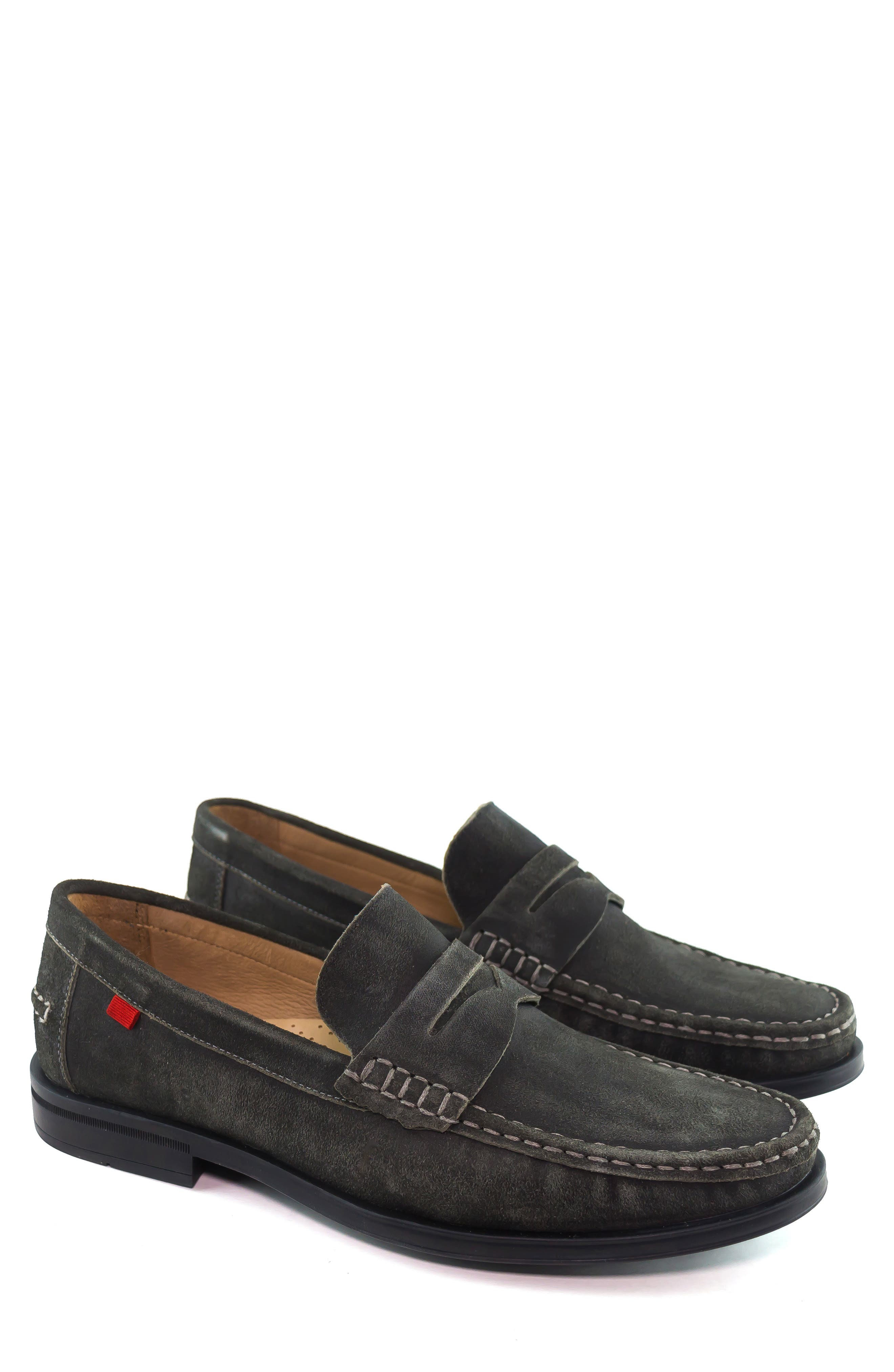 Cortland Penny Loafer,                             Alternate thumbnail 9, color,                             GRAPHITE LEATHER