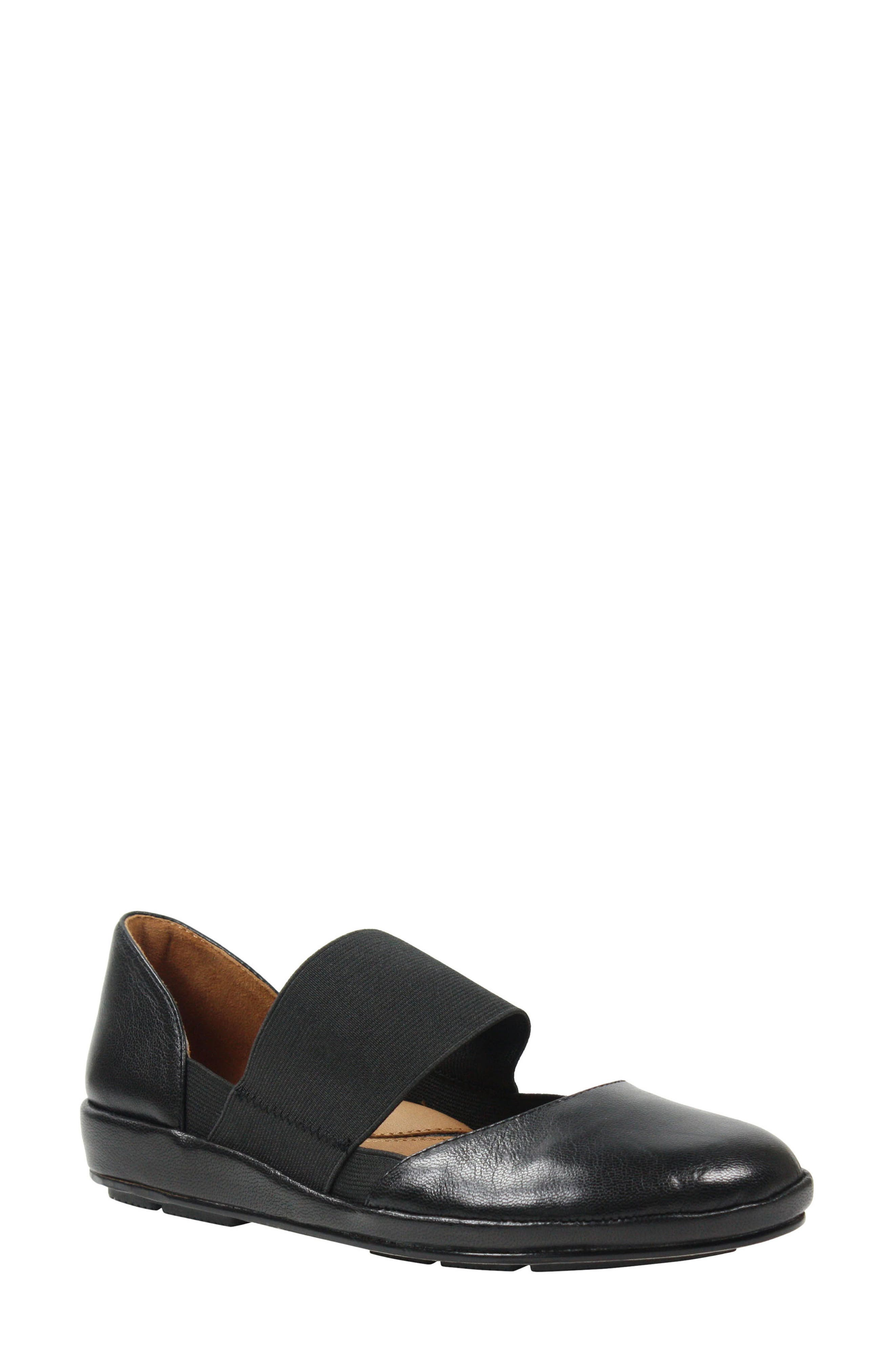 Camile Wedge Pump,                         Main,                         color, BLACK LEATHER