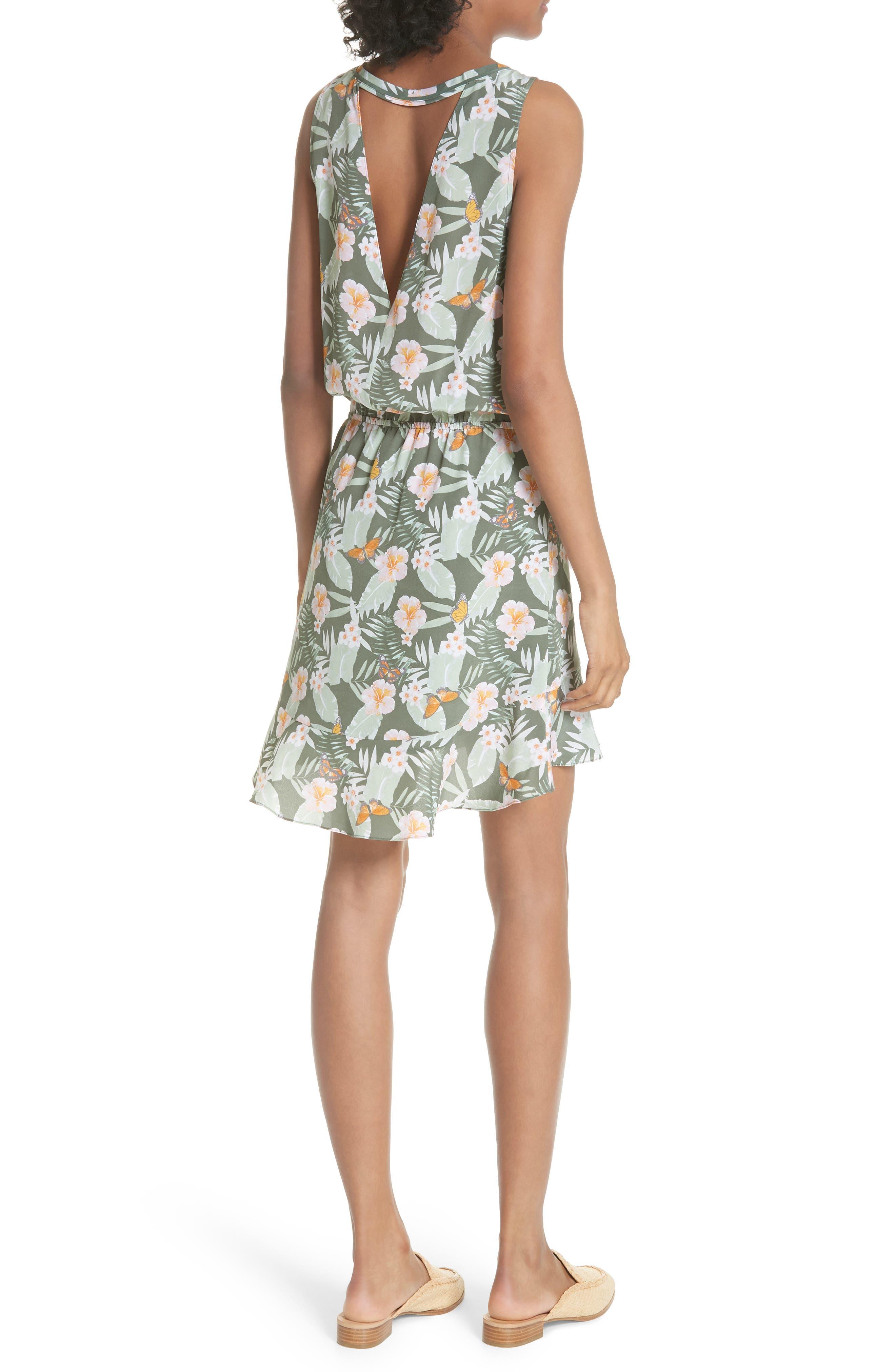 Jayne High/Low Silk Dress,                             Alternate thumbnail 2, color,                             330