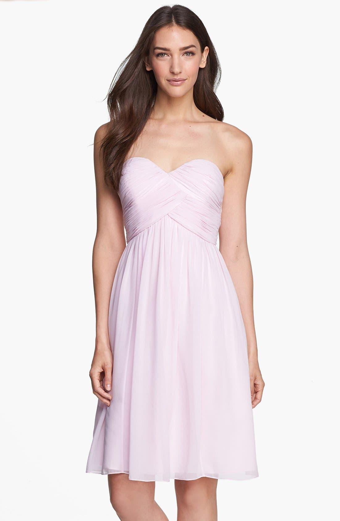'Morgan' Strapless Silk Chiffon Dress,                             Main thumbnail 33, color,