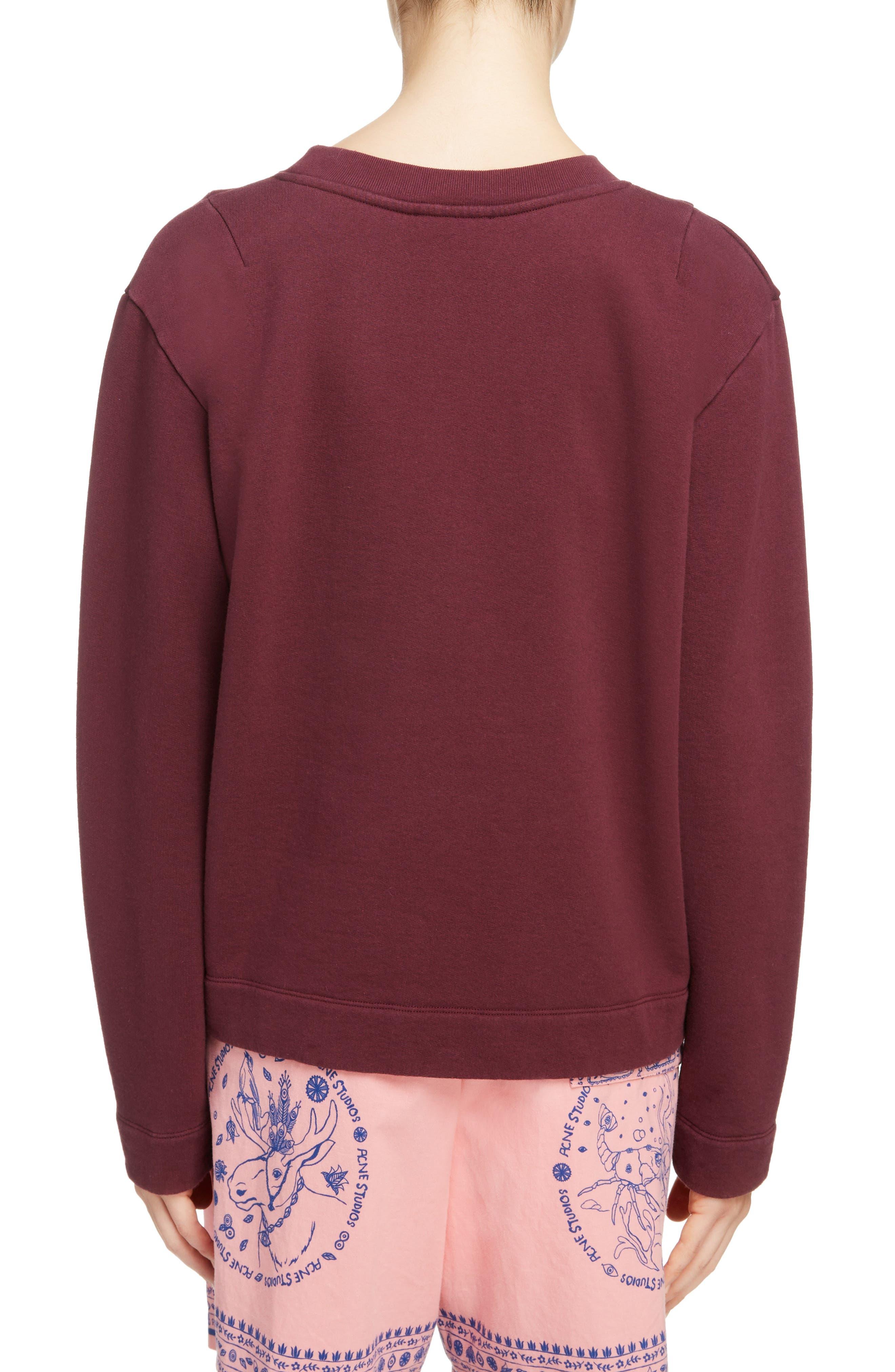 Oslavi Embroidered Bear Sweatshirt,                             Alternate thumbnail 2, color,