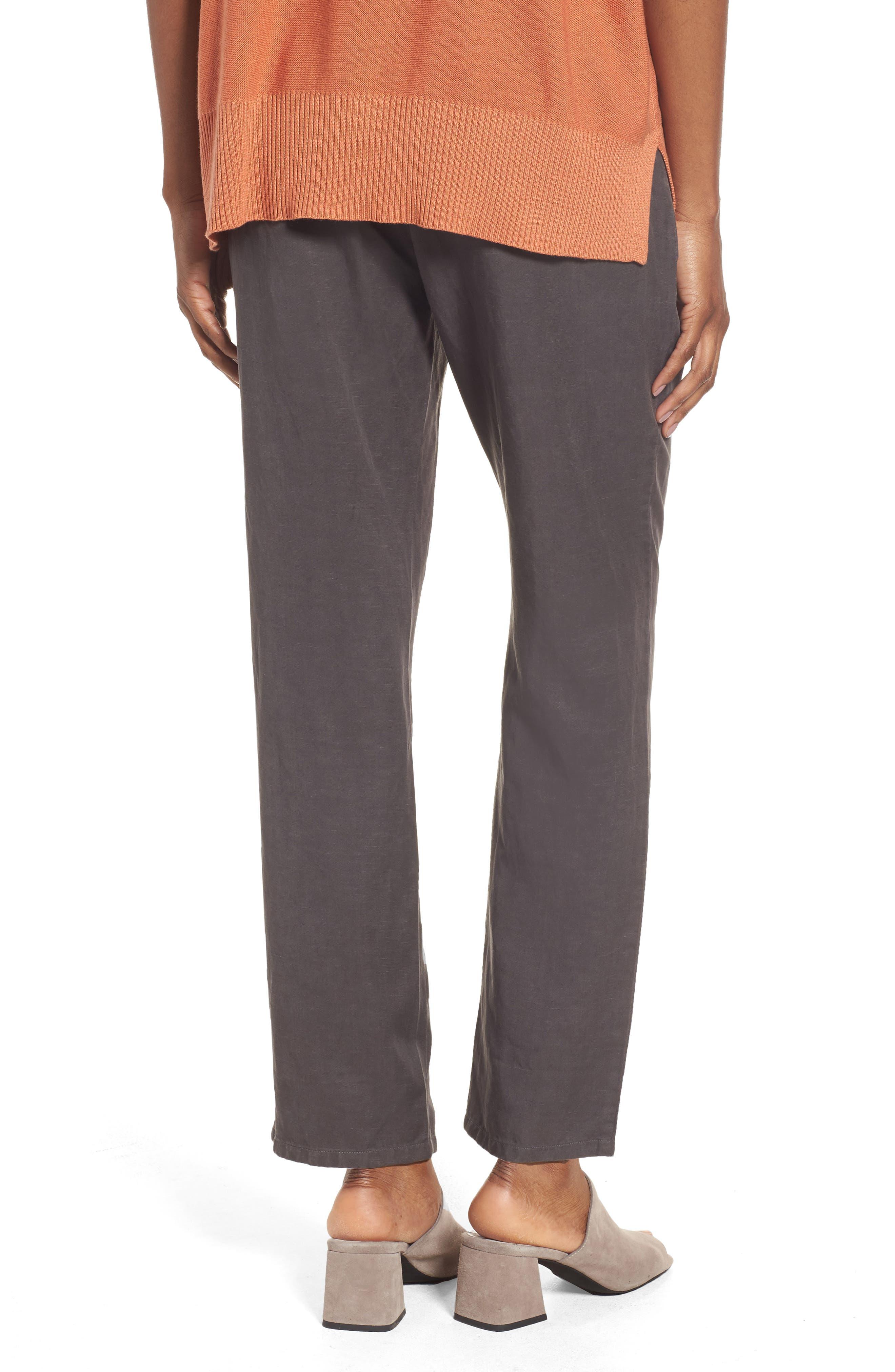 Tencel<sup>®</sup> & Linen Ankle Pants,                             Alternate thumbnail 4, color,