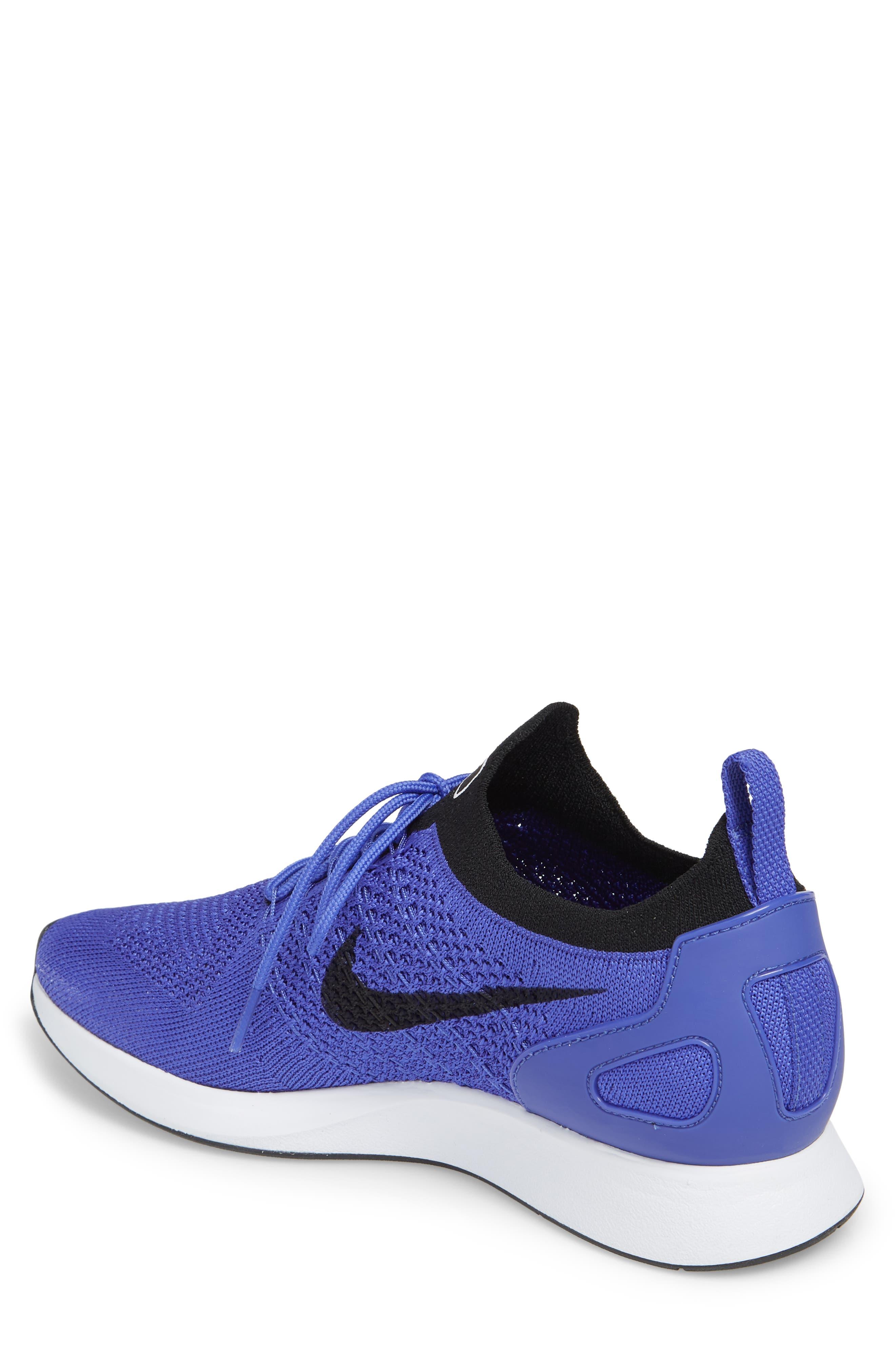 Air Zoom Mariah Flyknit Racer Sneaker,                             Alternate thumbnail 2, color,                             VIOLET/ BLACK/ WHITE