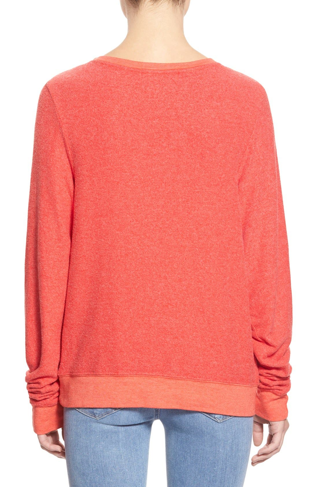 'Baggy Beach Jumper - Holiday List' Pullover,                             Alternate thumbnail 6, color,                             600