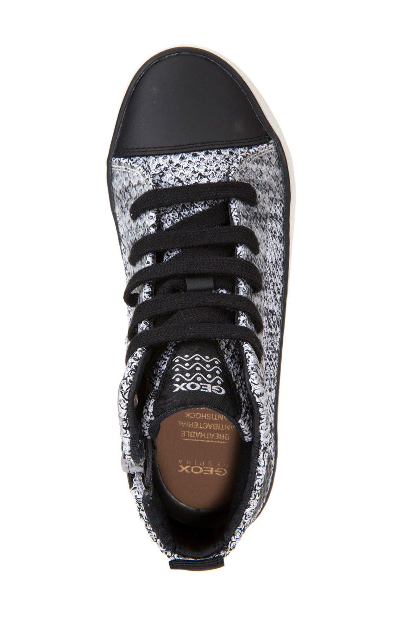 Alonisso Knit Mid Top Sneaker,                             Alternate thumbnail 5, color,                             WHITE/ BLACK