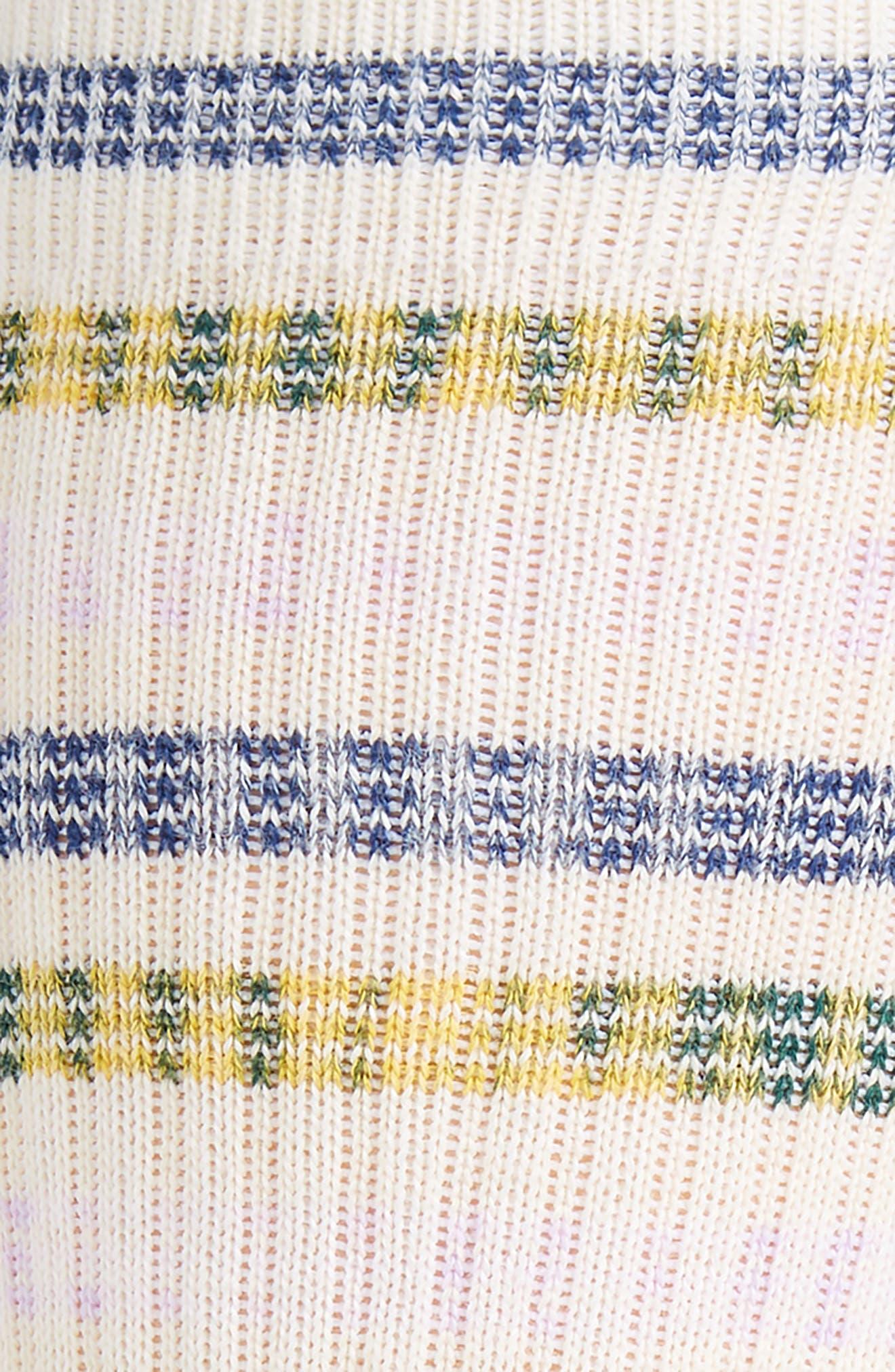Somme Stripe Socks,                             Alternate thumbnail 2, color,                             WHITE