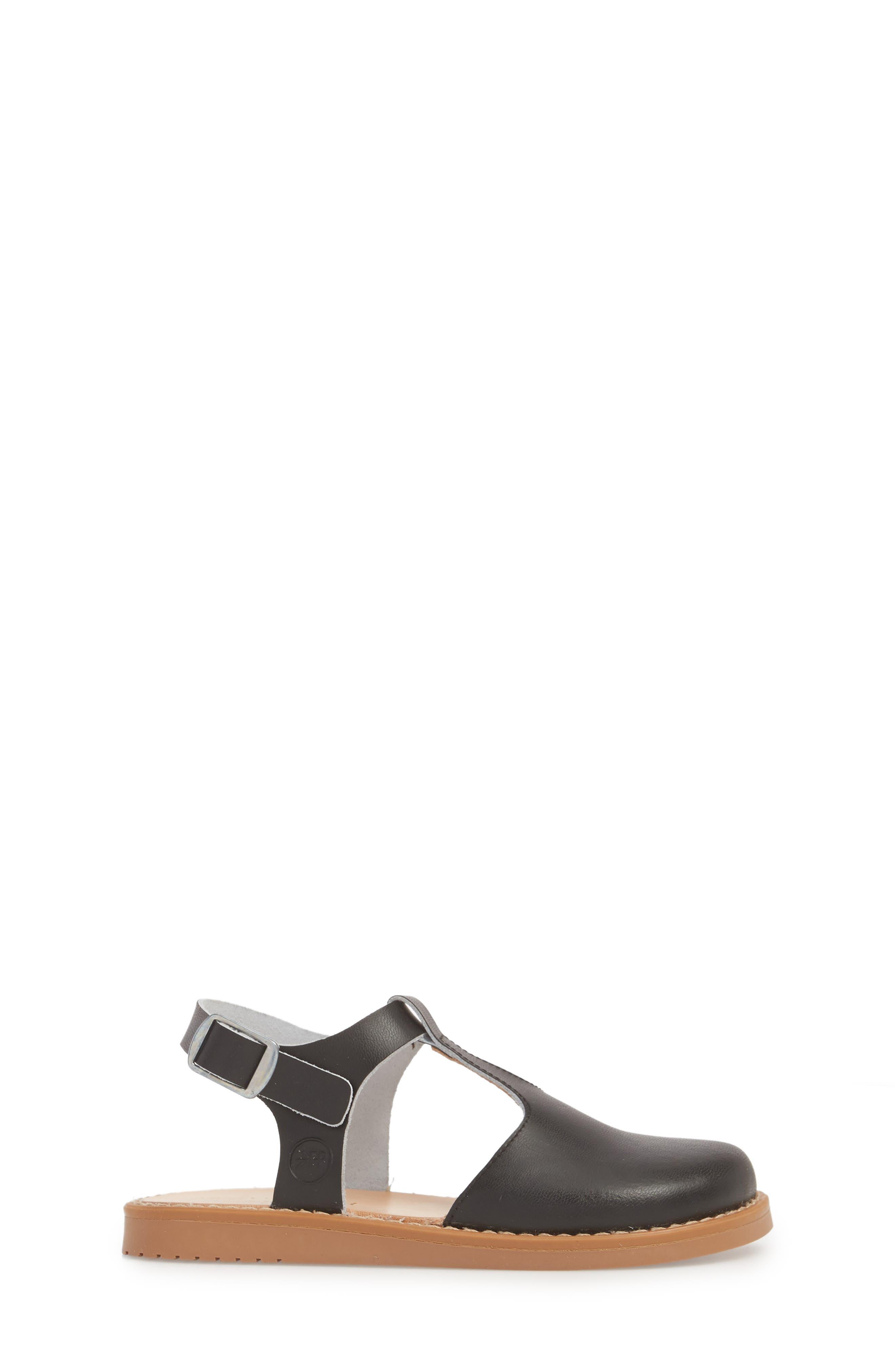Newport Clog Sandal,                             Alternate thumbnail 3, color,                             BLACK