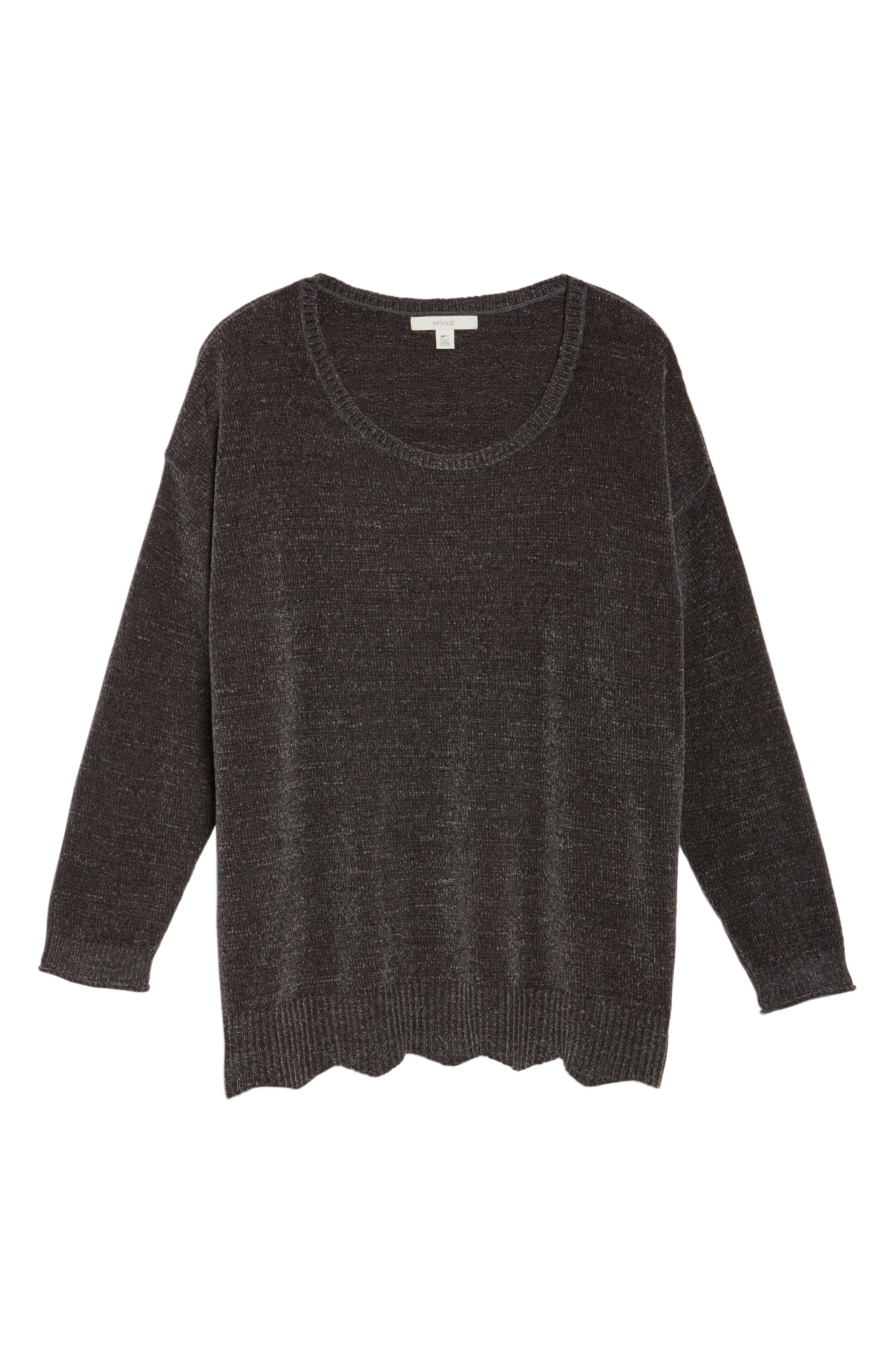 Scallop Hem Sweater,                             Alternate thumbnail 6, color,                             021