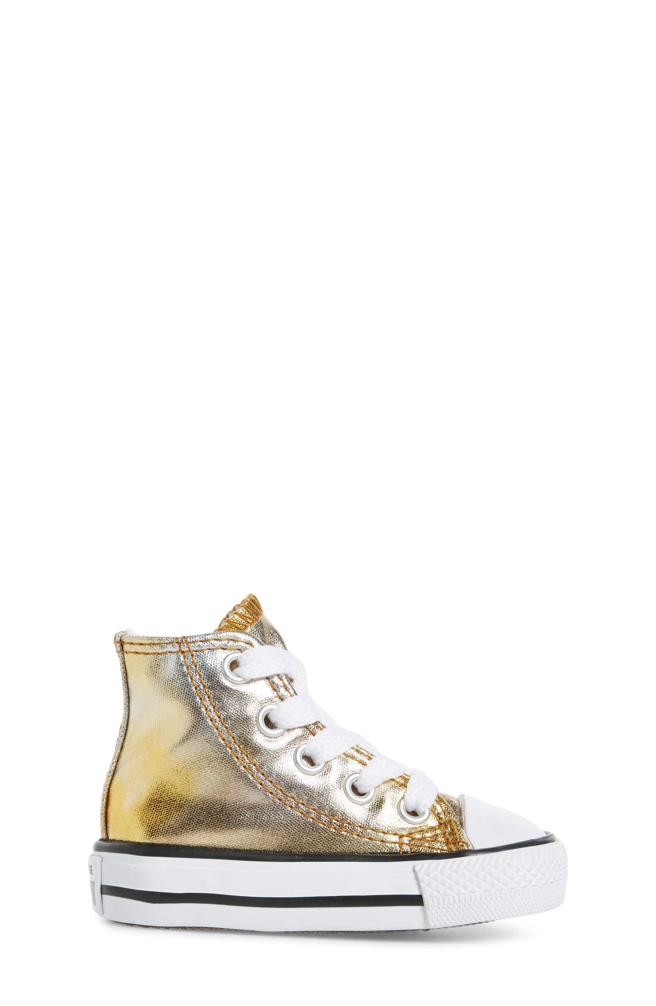 Chuck Taylor<sup>®</sup> All Star<sup>®</sup> Metallic High Top Sneaker,                             Alternate thumbnail 6, color,