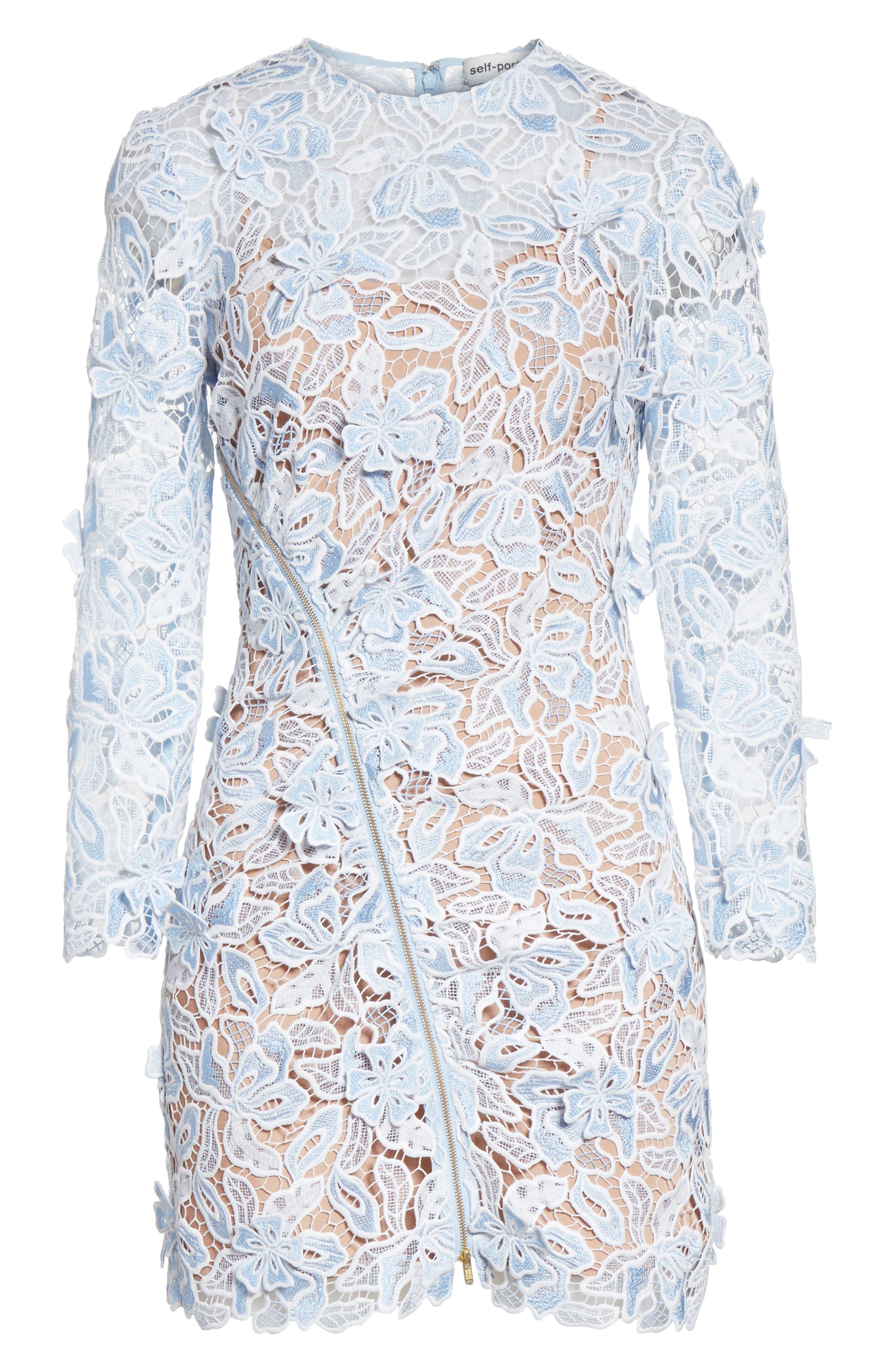 Lily 3D Lace Minidress,                             Alternate thumbnail 6, color,                             400