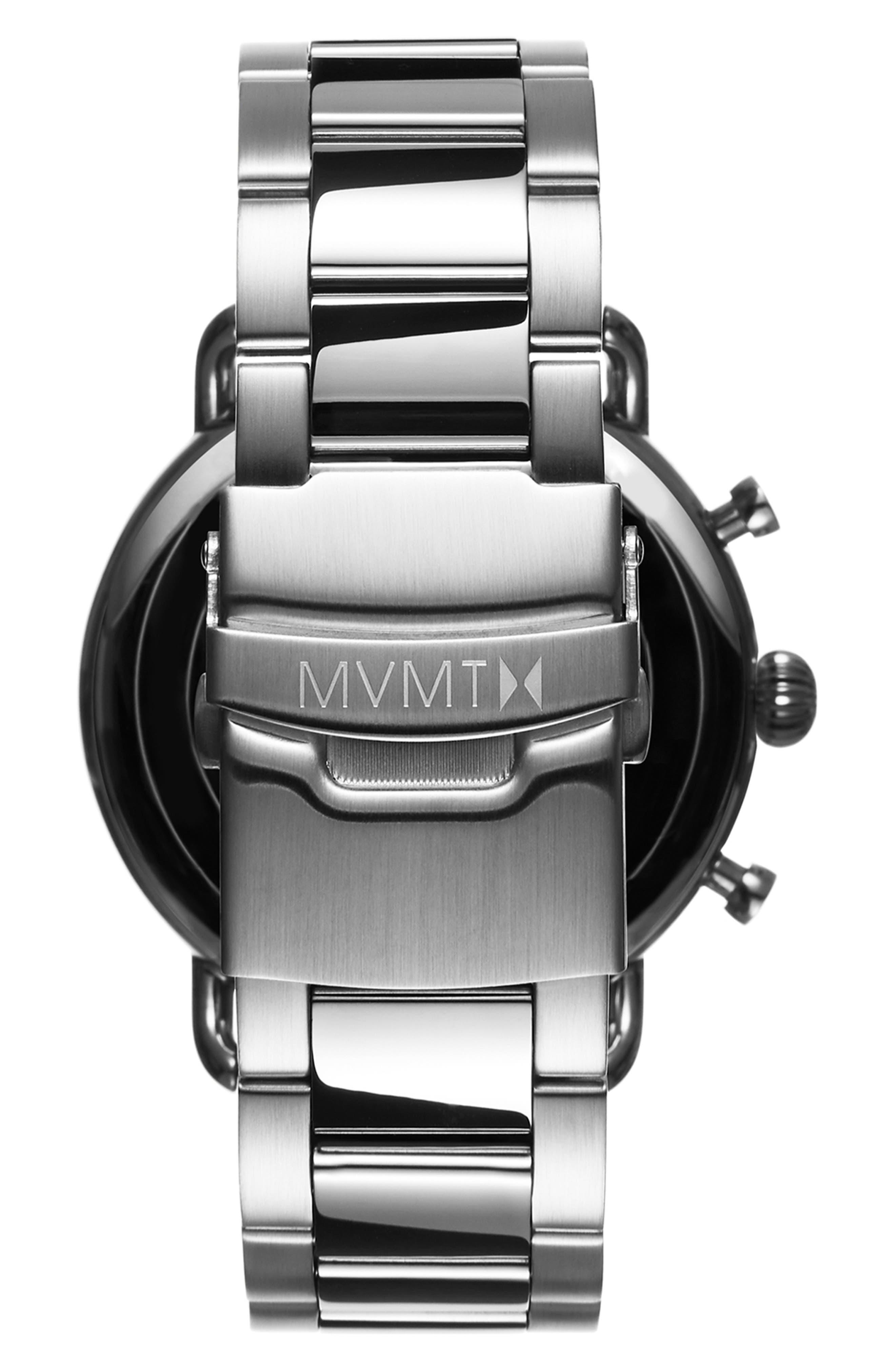 Blacktop Chronograph Bracelet Watch,                             Alternate thumbnail 2, color,                             BLUE/ SILVER