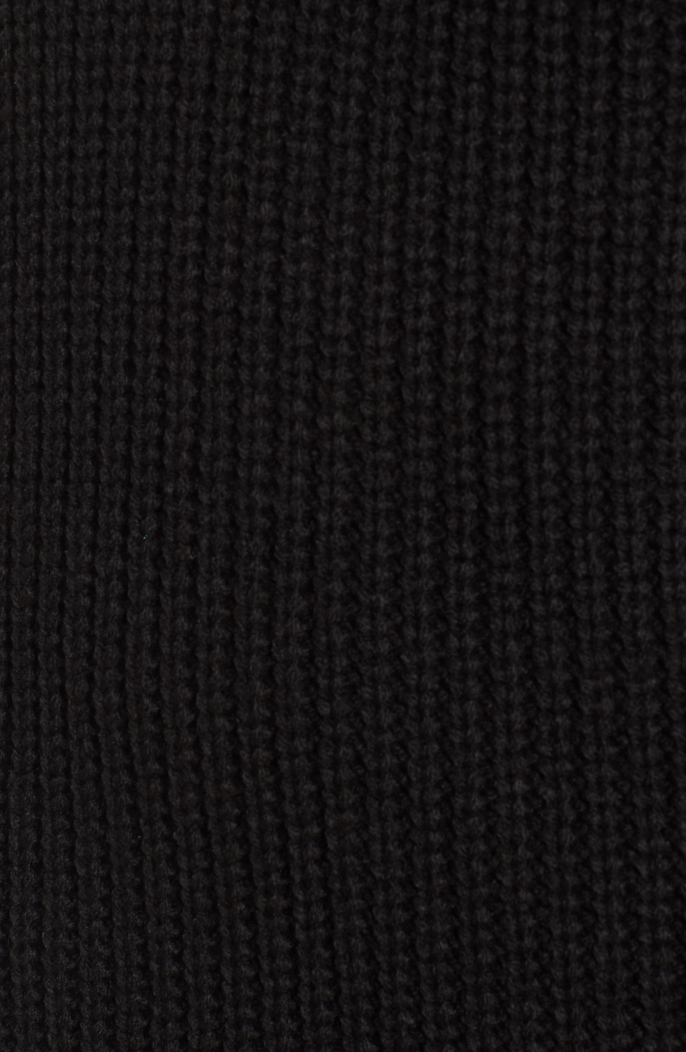 Foldover Off the Shoulder Sweater Dress,                             Alternate thumbnail 5, color,                             001