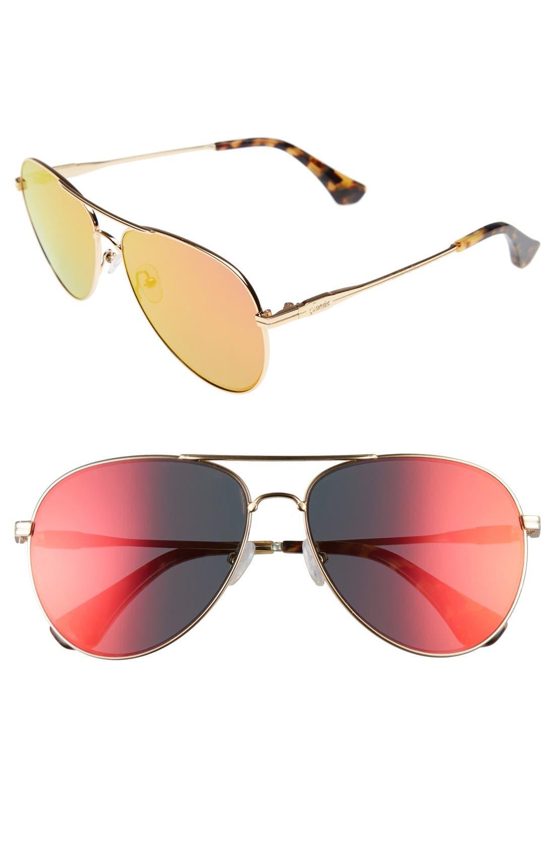 Lodi 62mm Mirrored Aviator Sunglasses,                             Main thumbnail 3, color,