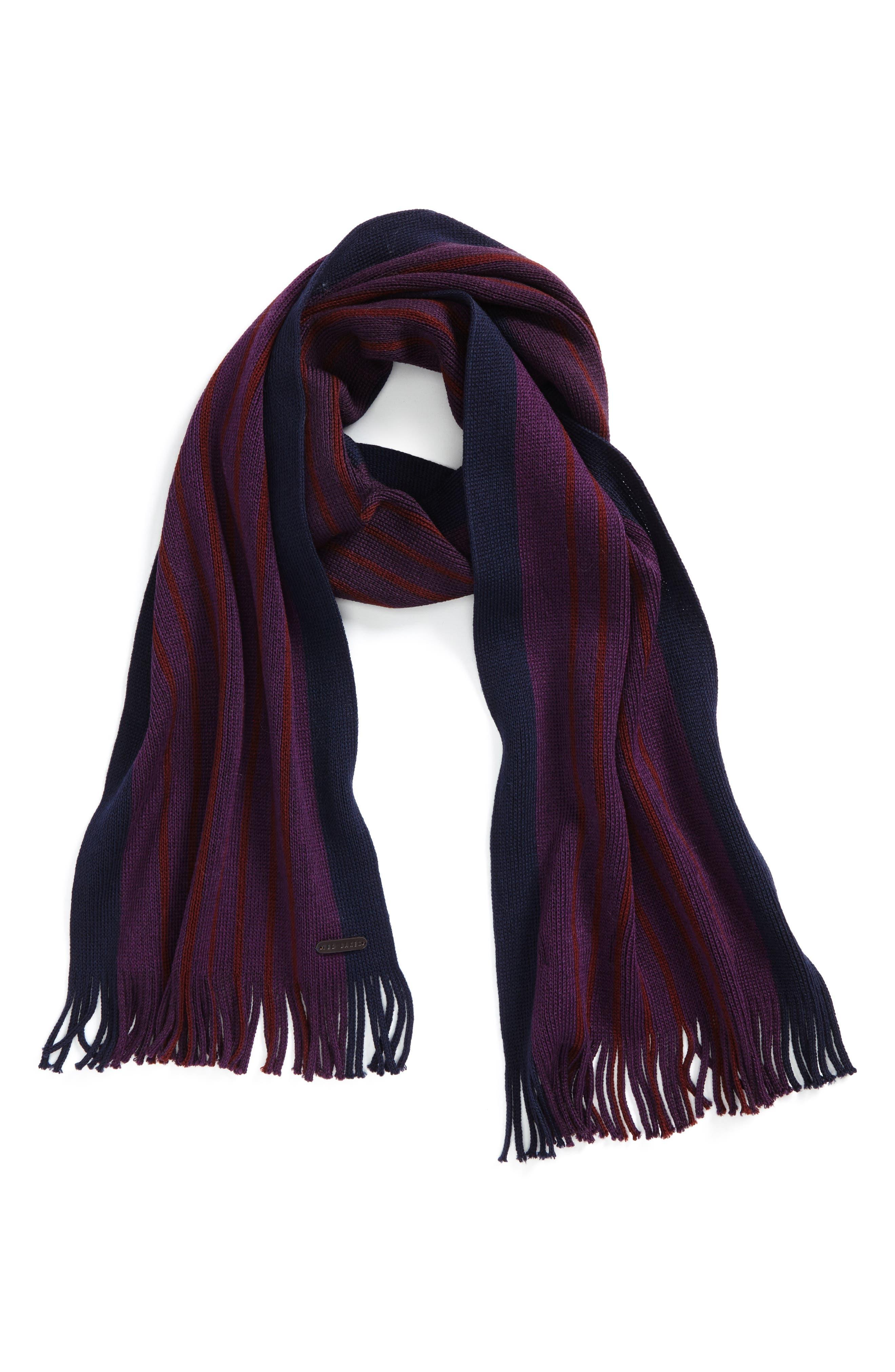 Elmm Stripe Wool Scarf,                             Main thumbnail 1, color,                             510