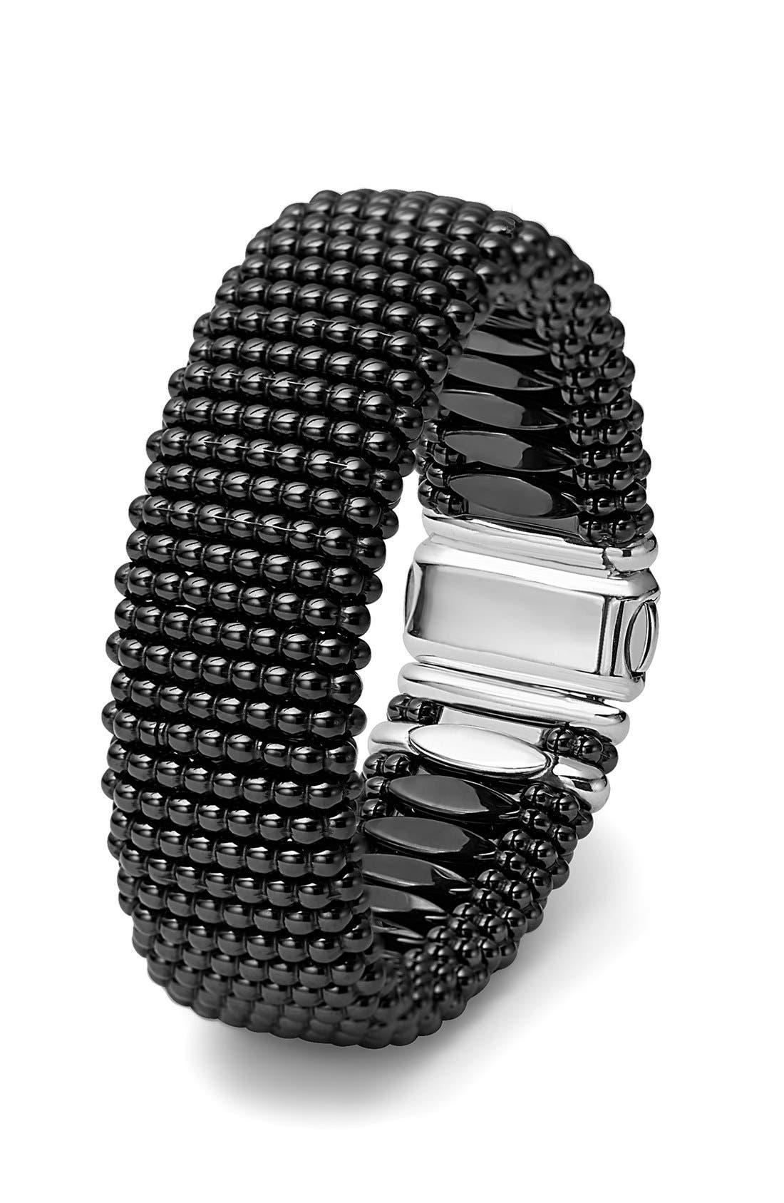 'Caviar Rope' Bracelet,                             Alternate thumbnail 4, color,                             BLACK/ GOLD