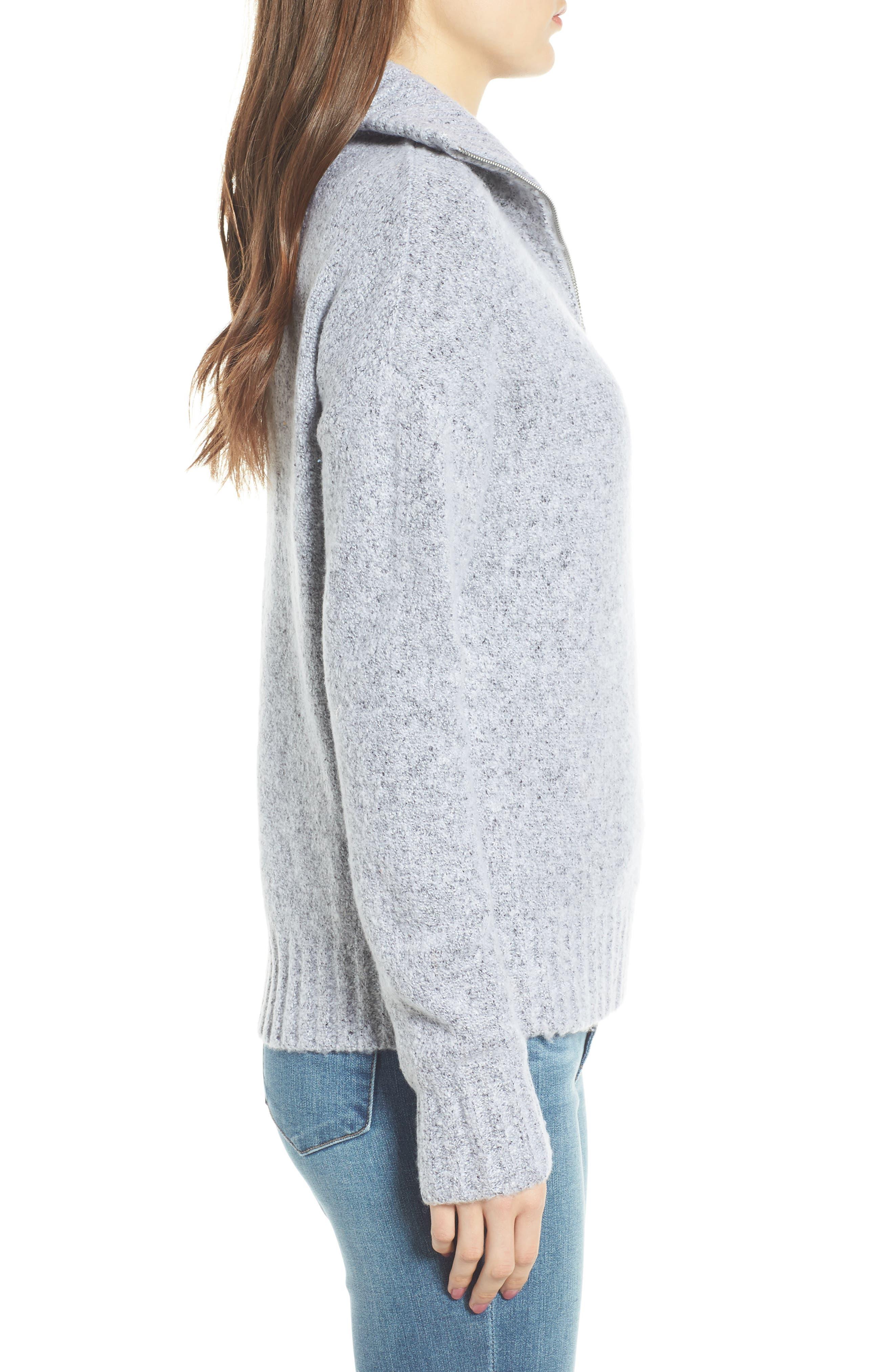Quarter Zip Sweater,                             Alternate thumbnail 3, color,                             020