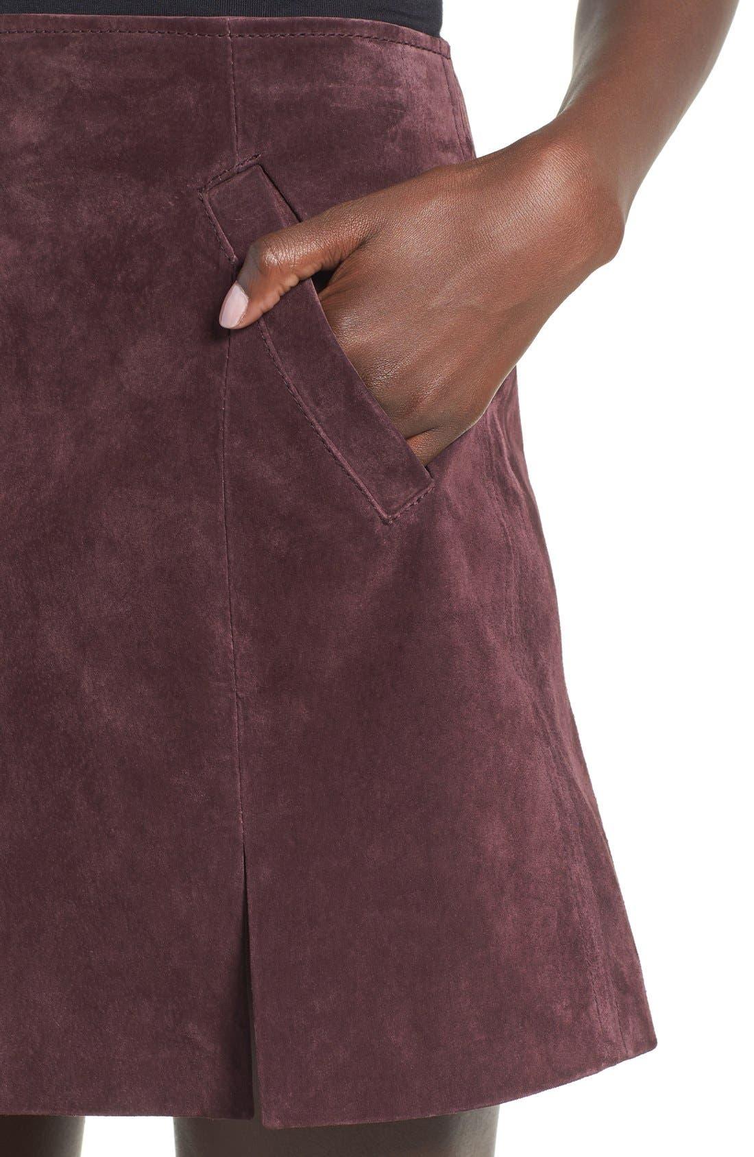 Suede Miniskirt,                             Alternate thumbnail 31, color,