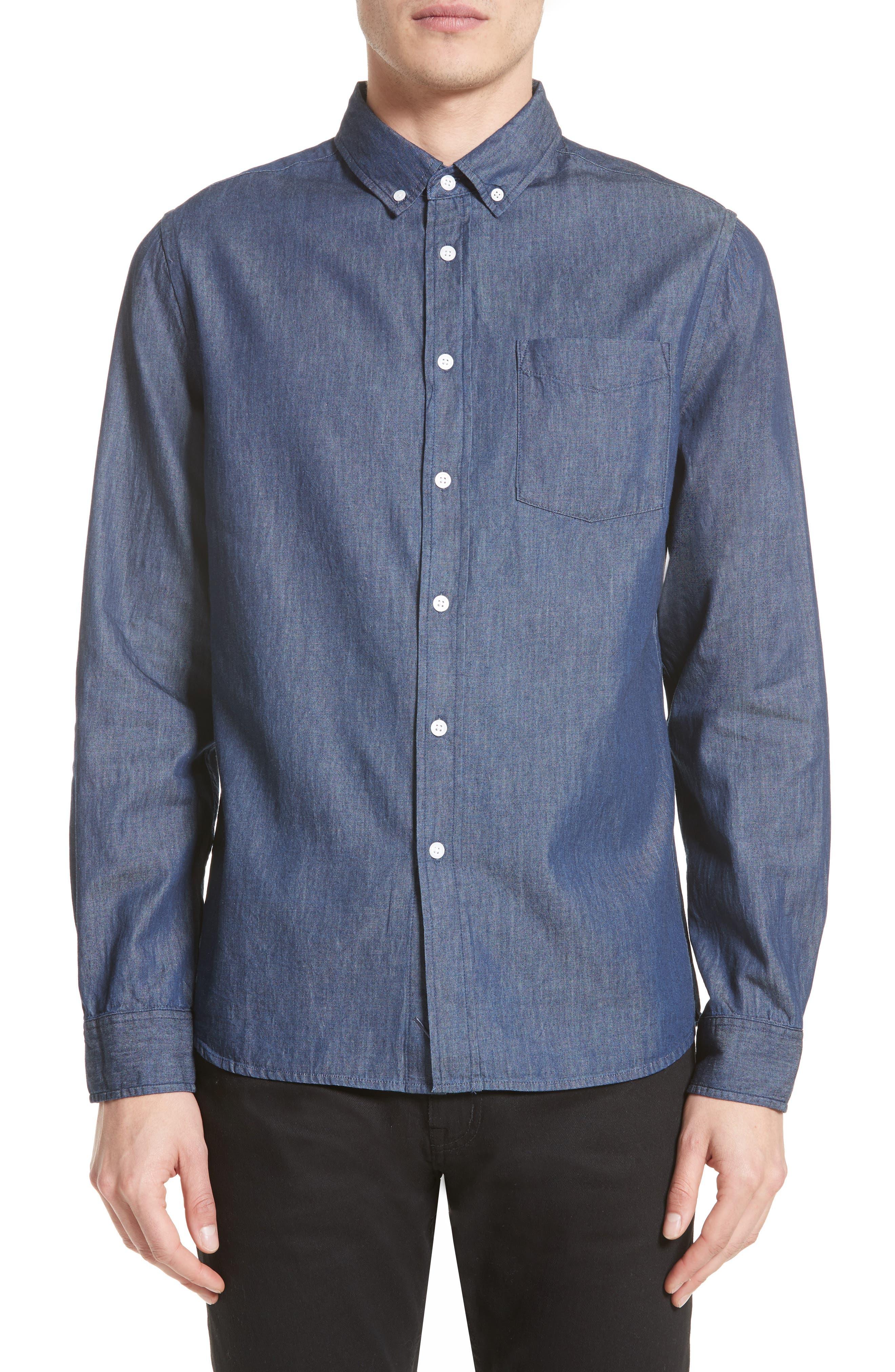 Crosby Denim Slim Fit Sport Shirt,                             Main thumbnail 1, color,                             INDIGO