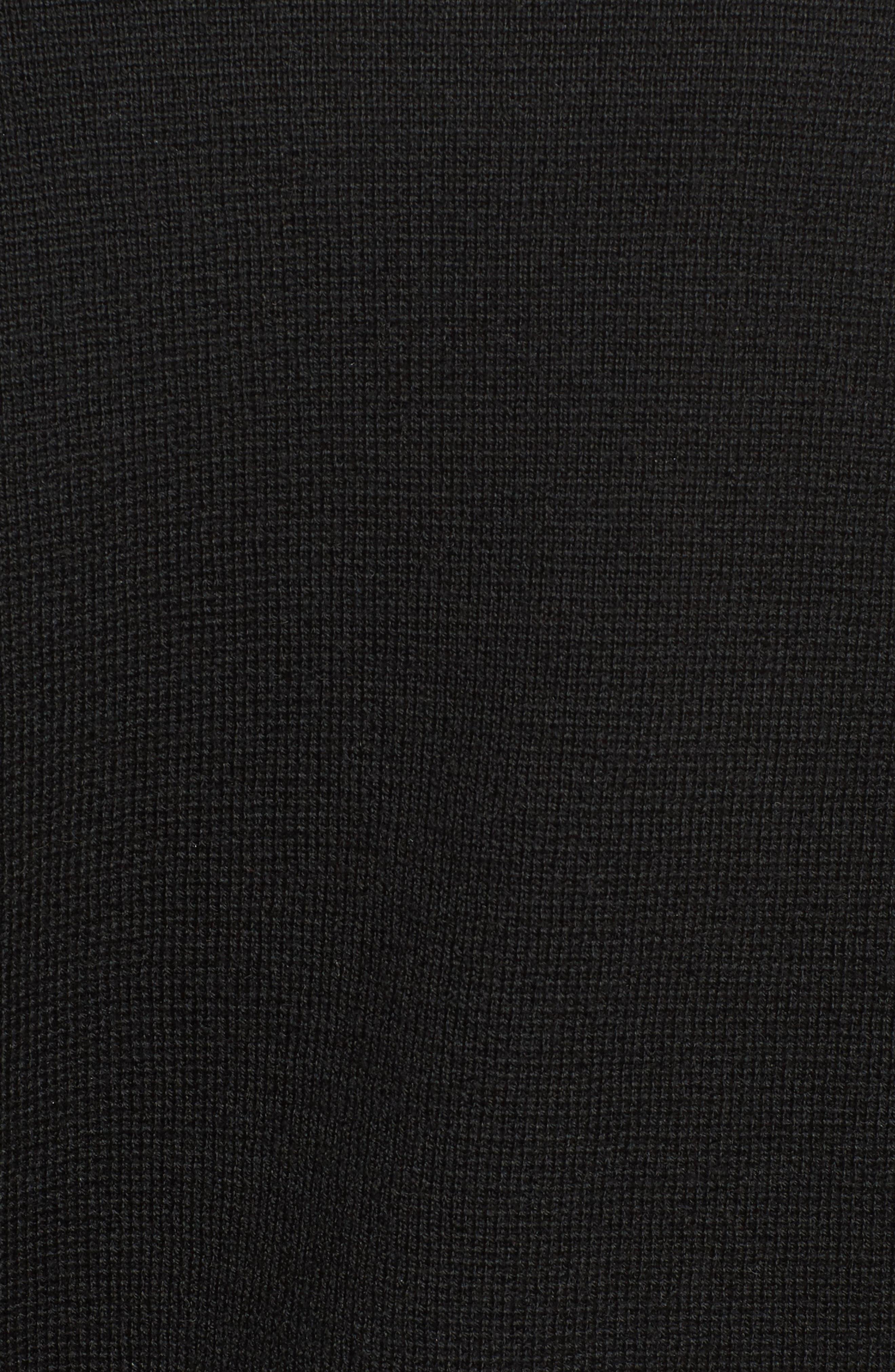 Merino Wool Knit Blazer,                             Alternate thumbnail 6, color,                             001