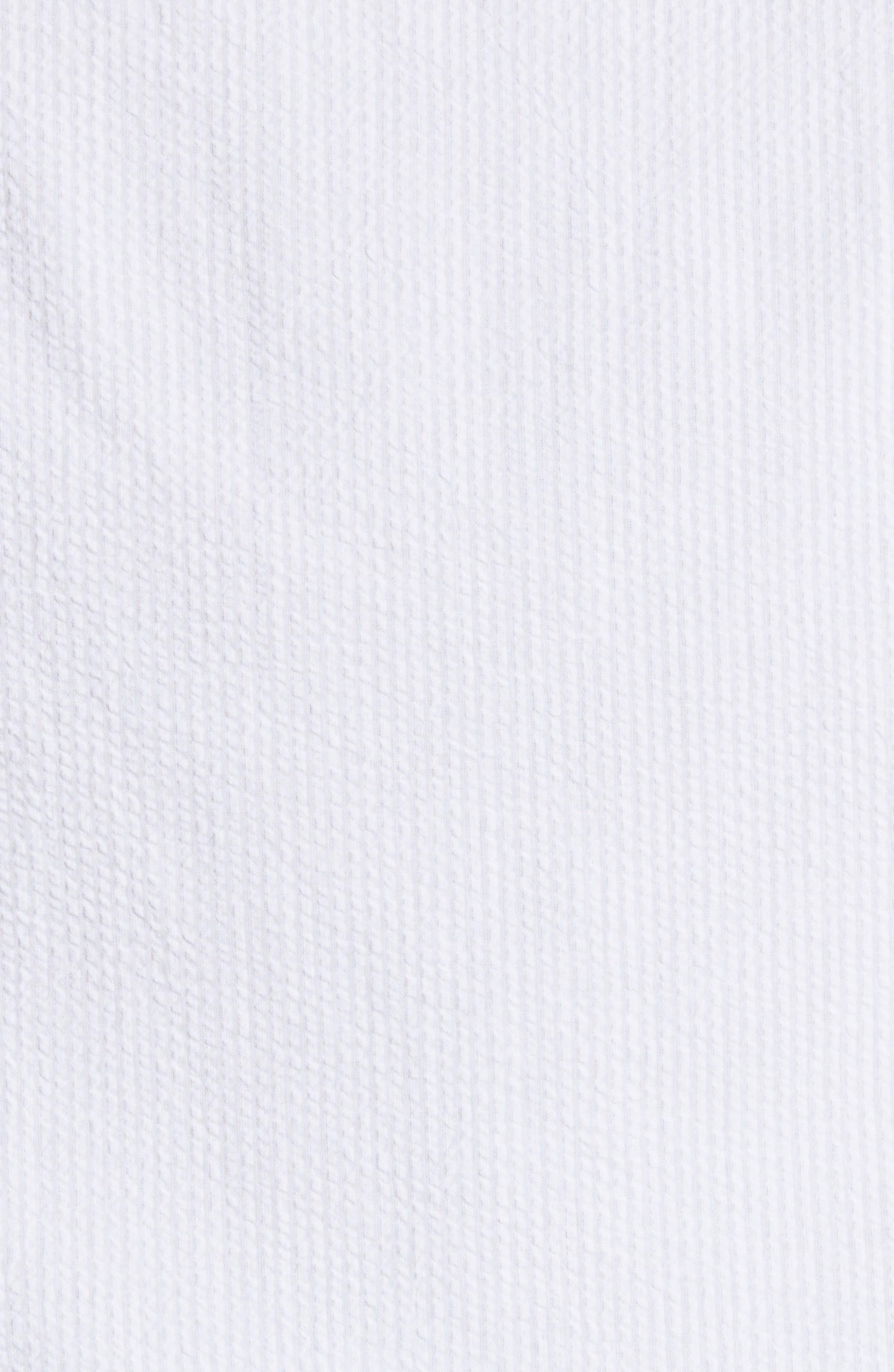 Regular Fit Short Sleeve Sport Shirt,                             Alternate thumbnail 5, color,                             BIANCO OTTICO