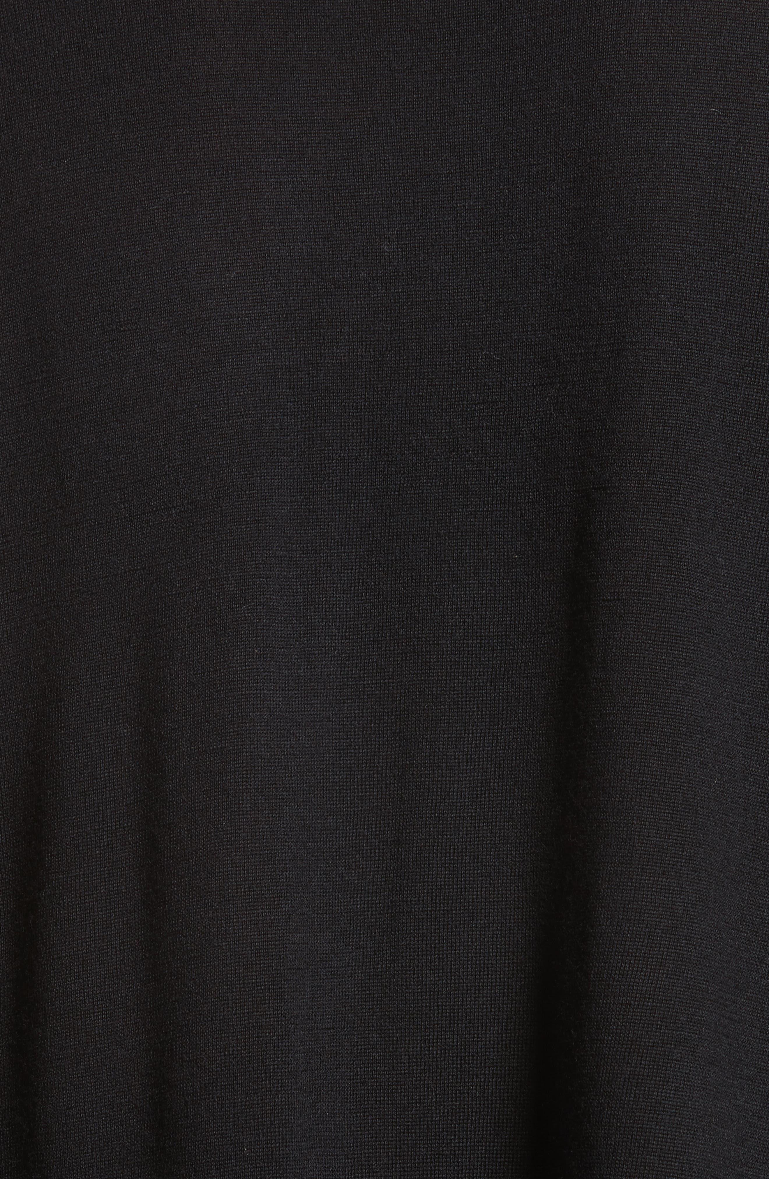 Karel Oversize Merino Sweater,                             Alternate thumbnail 5, color,                             001