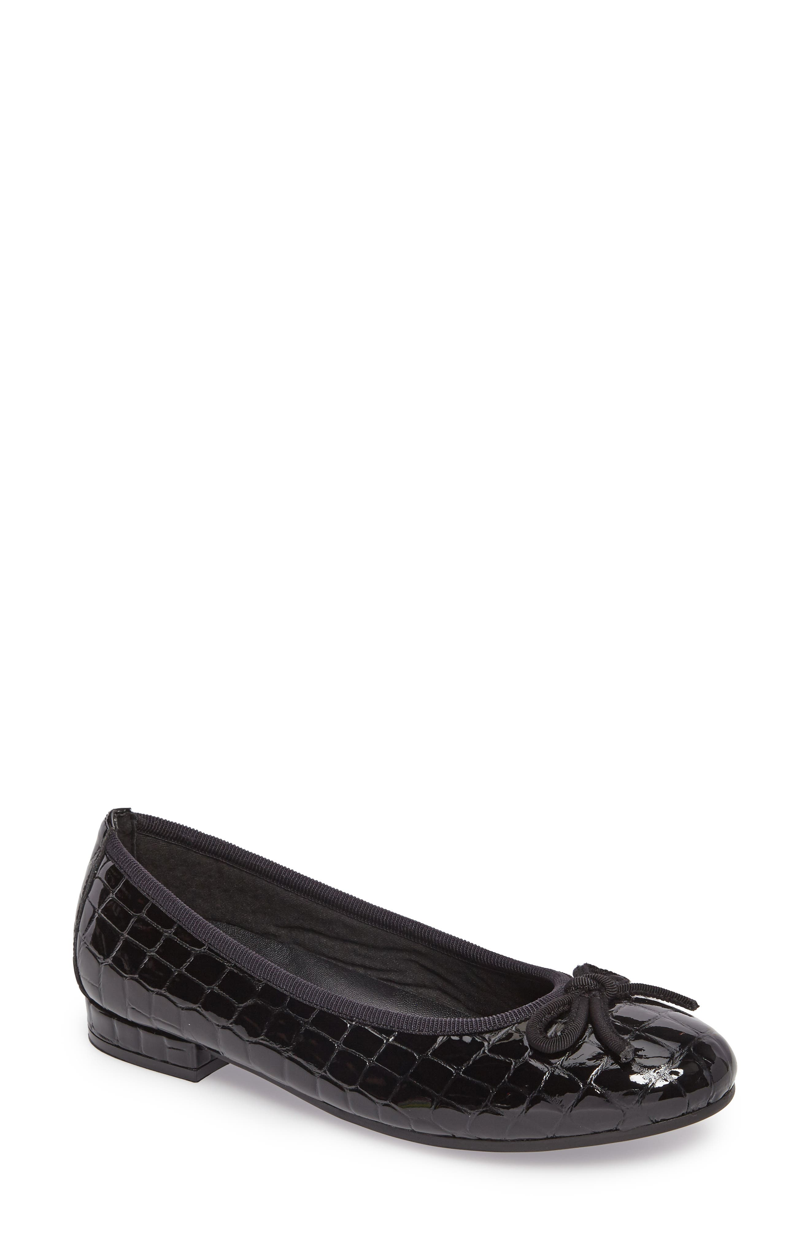 Glow Flat,                         Main,                         color, BLACK PATENT LEATHER