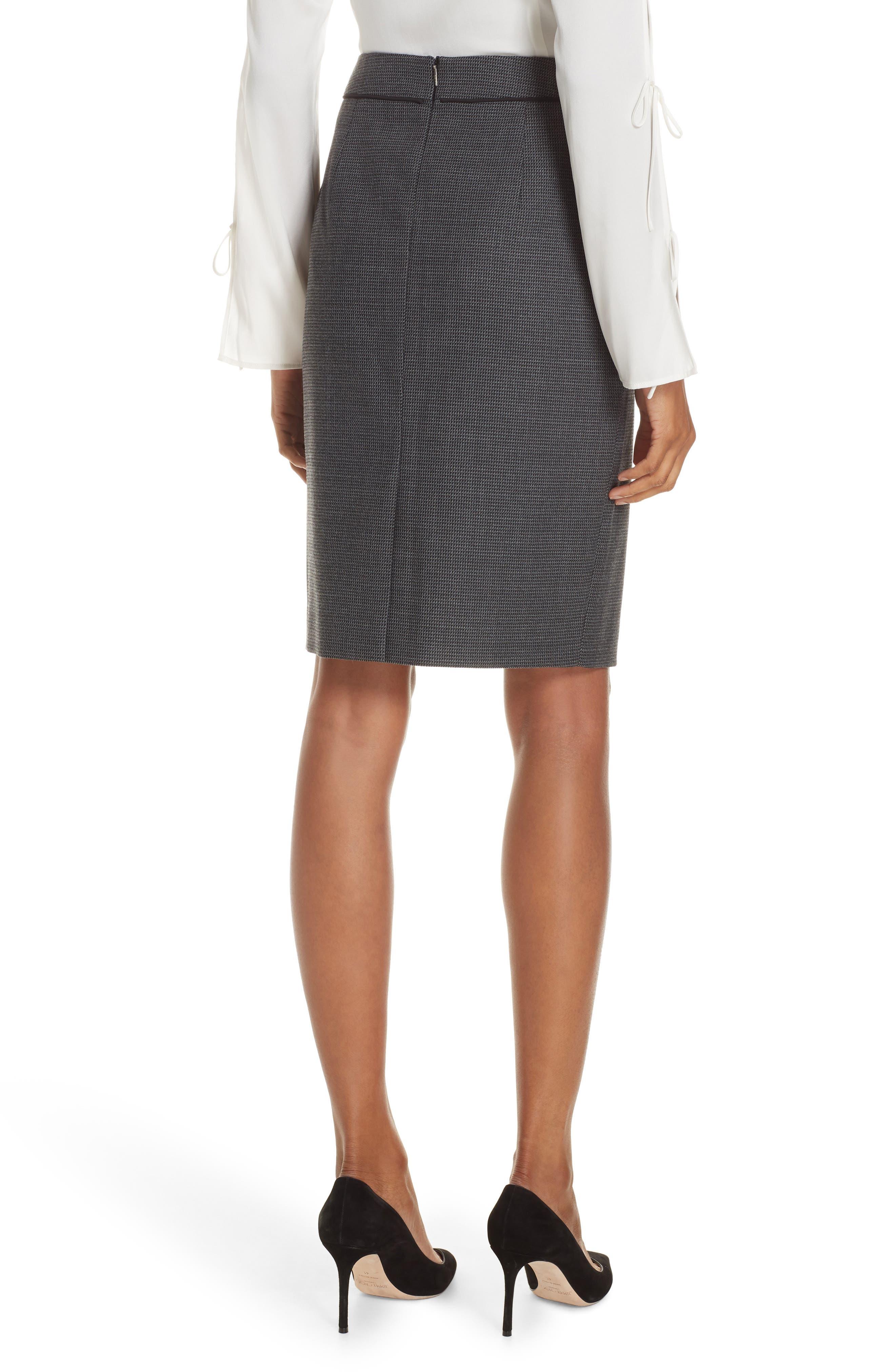 Vorita Geometric Wool Blend Suit Skirt,                             Alternate thumbnail 2, color,                             GREY FANTASY