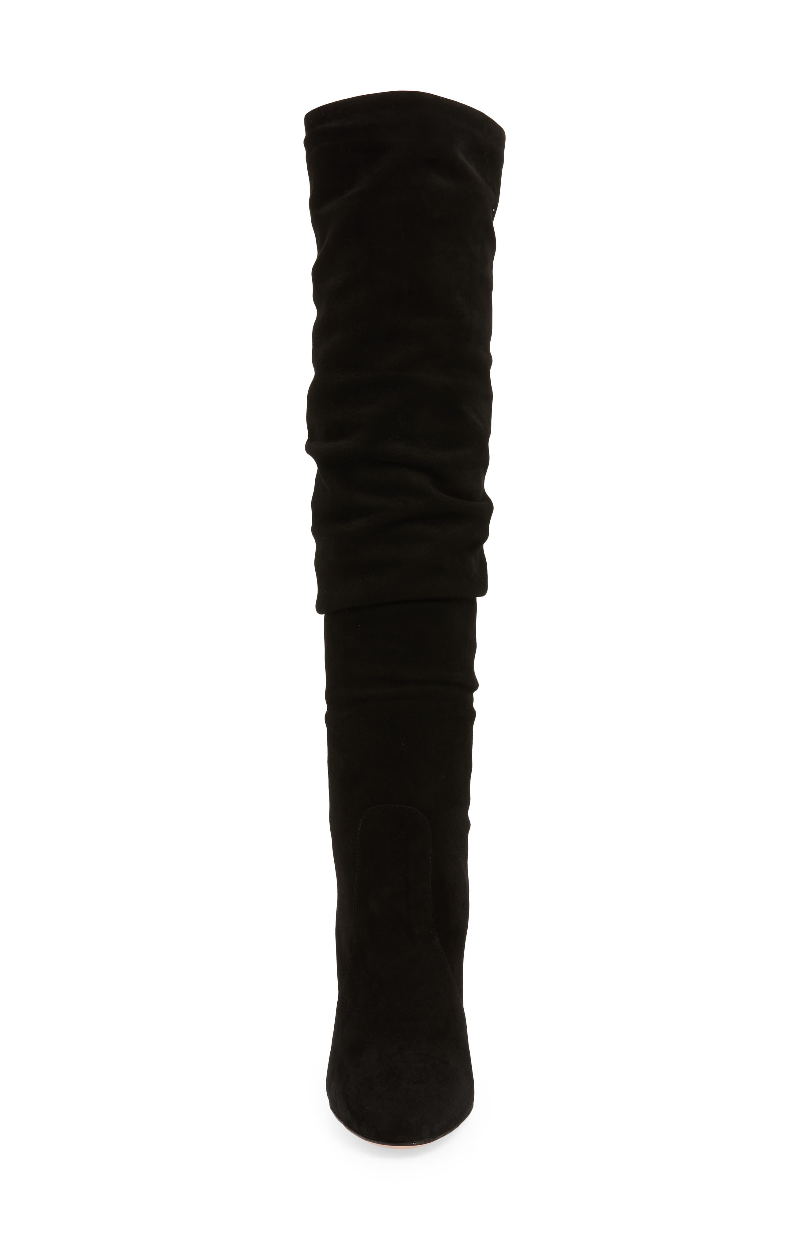 Slouch Tall Boot,                             Alternate thumbnail 4, color,                             BLACK