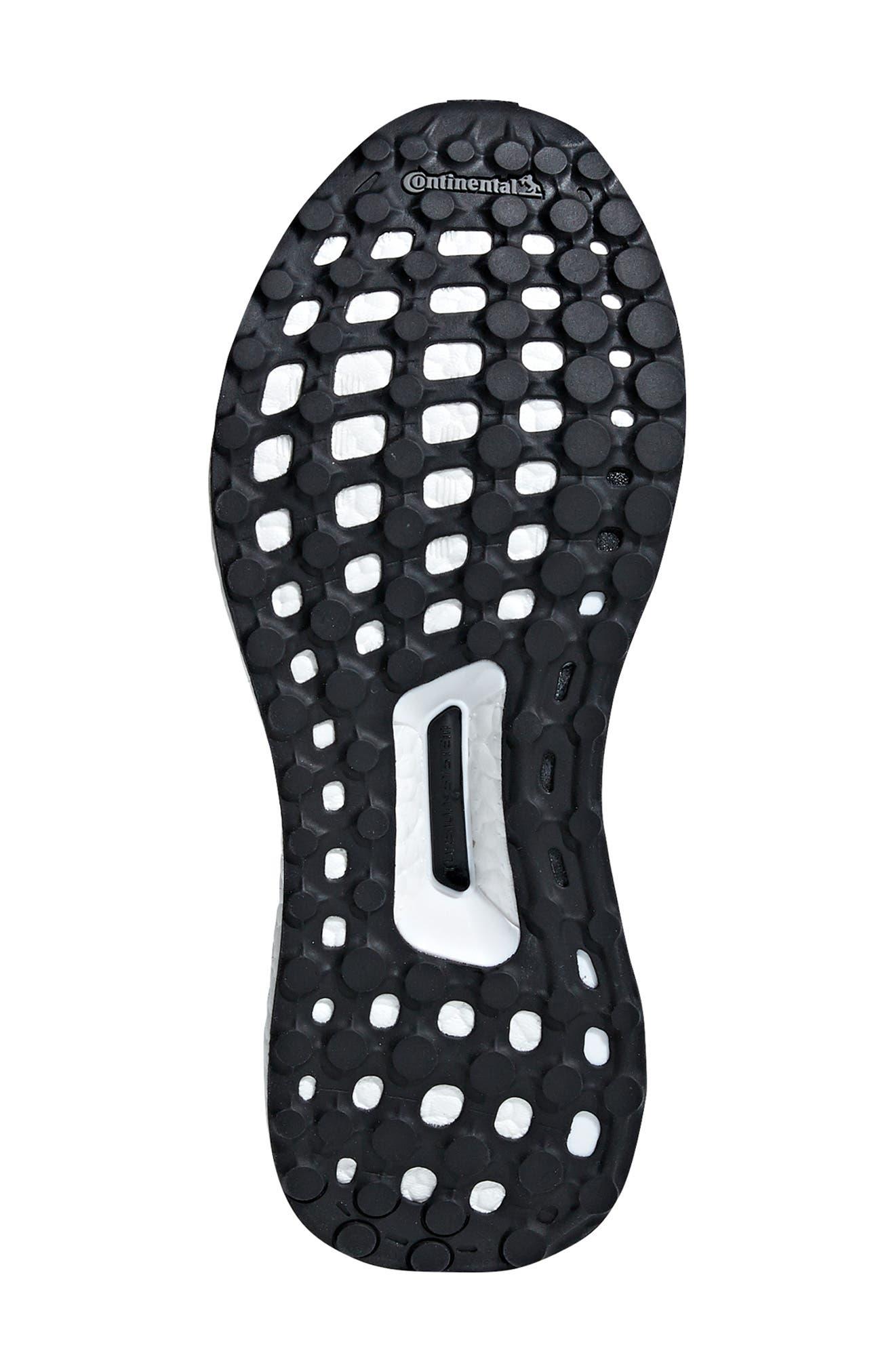 UltraBoost X Running Shoe,                             Alternate thumbnail 5, color,                             WHITE/ BLACK/ SHOCK PINK