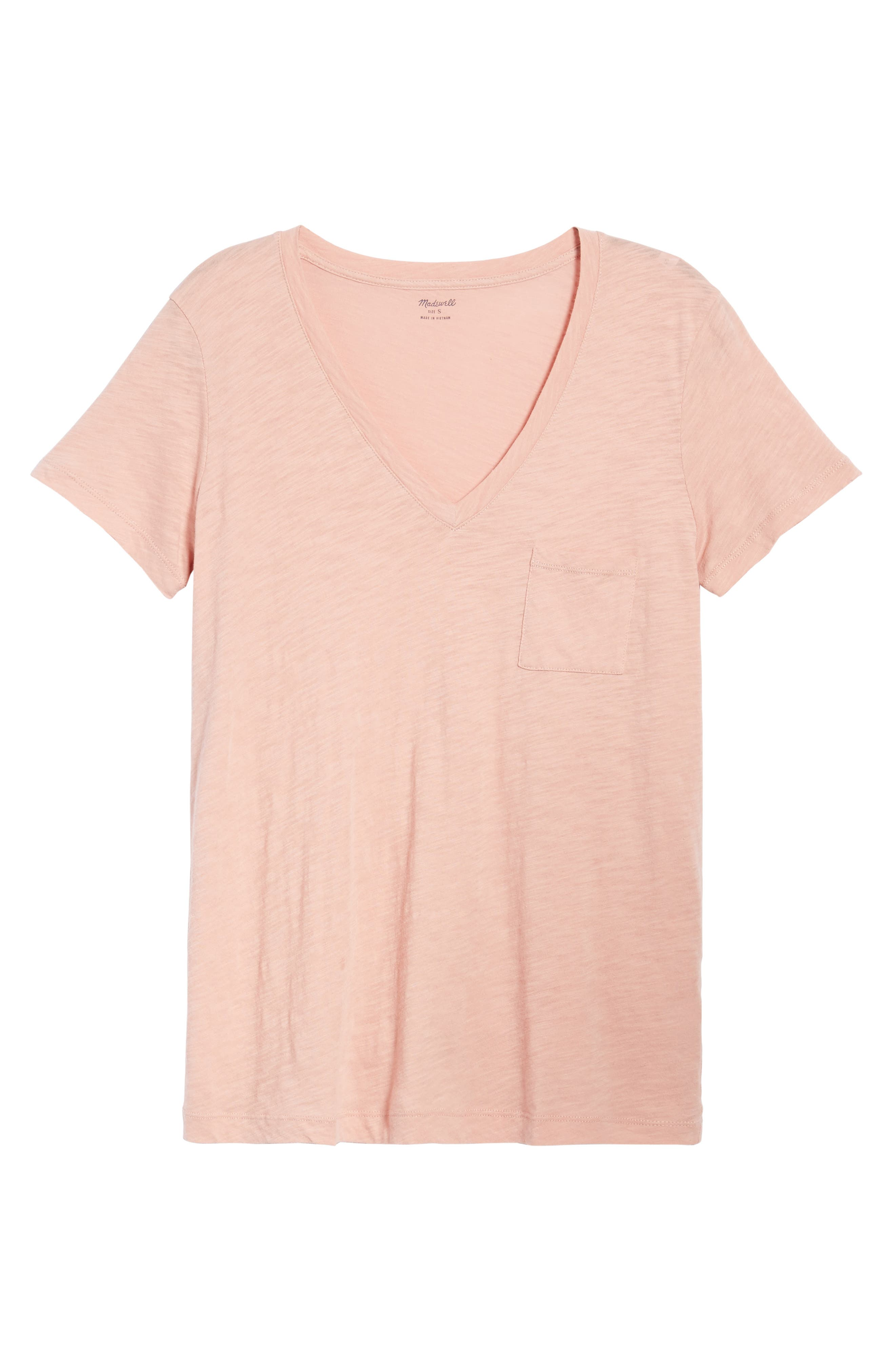 Whisper Cotton V-Neck Pocket Tee,                             Alternate thumbnail 240, color,