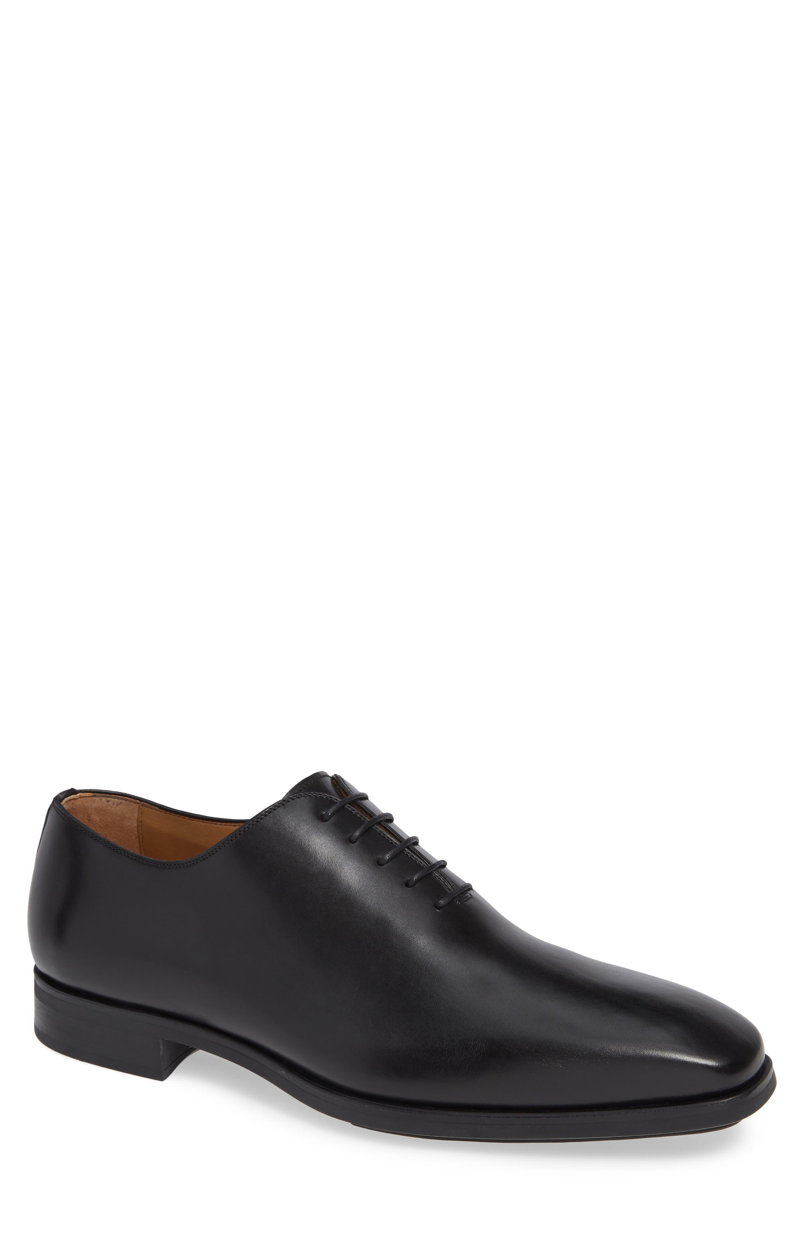 Ryder Plain Toe Oxford,                         Main,                         color, BLACK LEATHER
