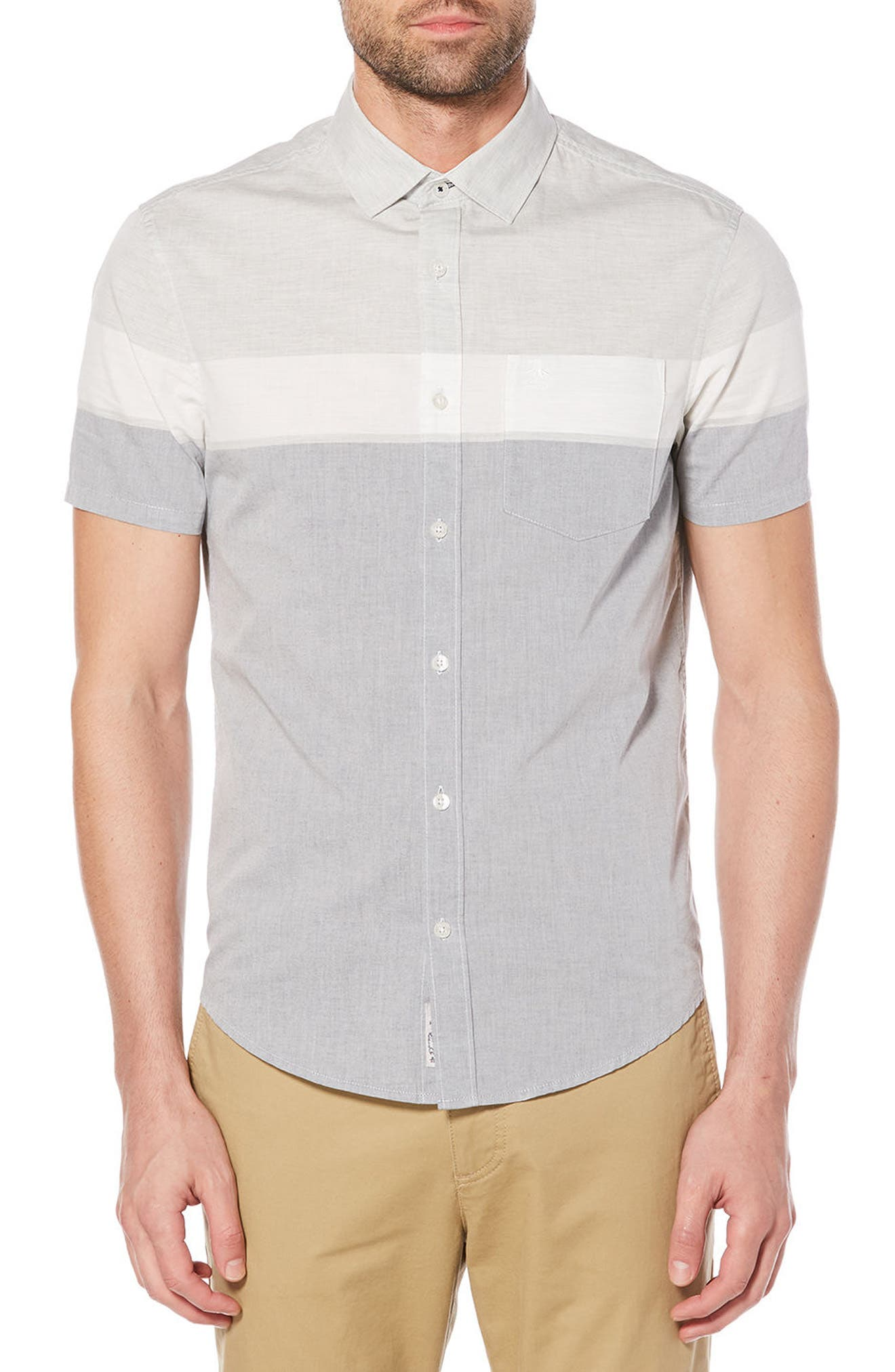 Engineered Stripe Woven Shirt,                         Main,                         color, 413