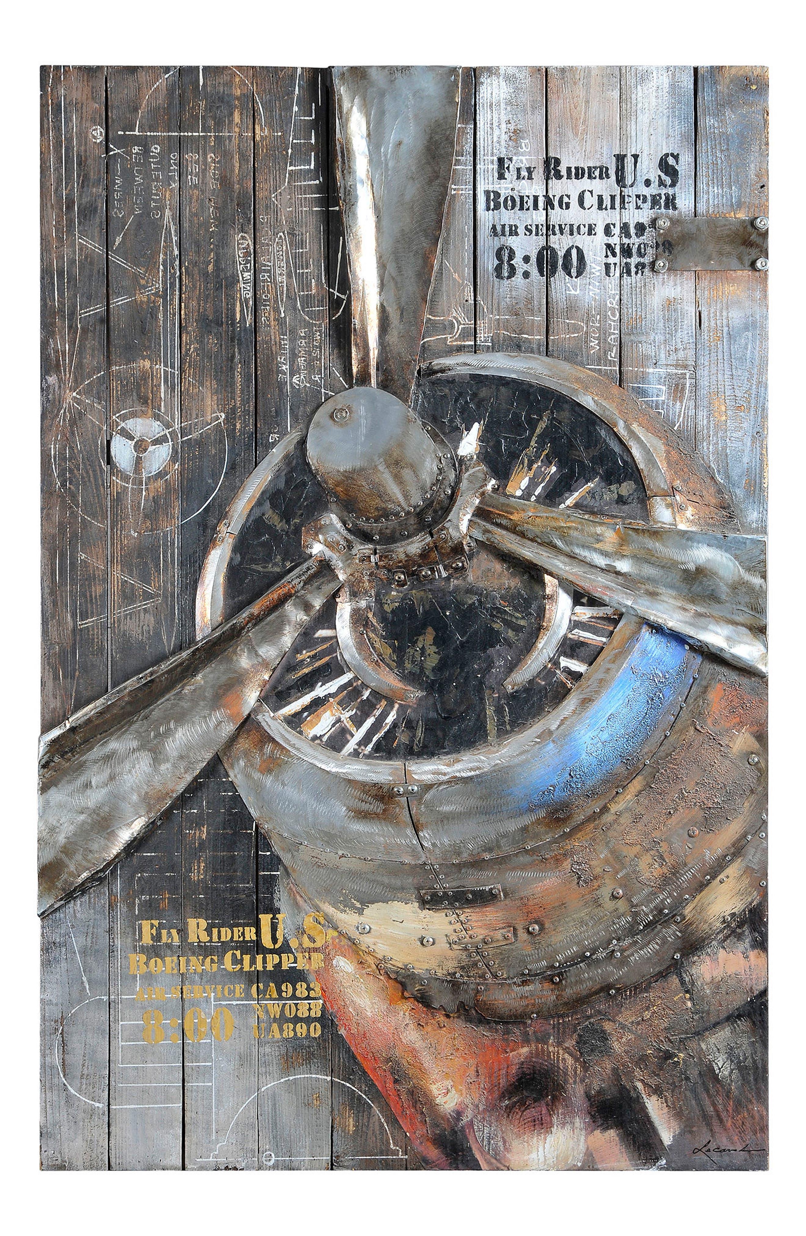 Fly Rider Propeller Wall Art,                             Main thumbnail 1, color,                             020