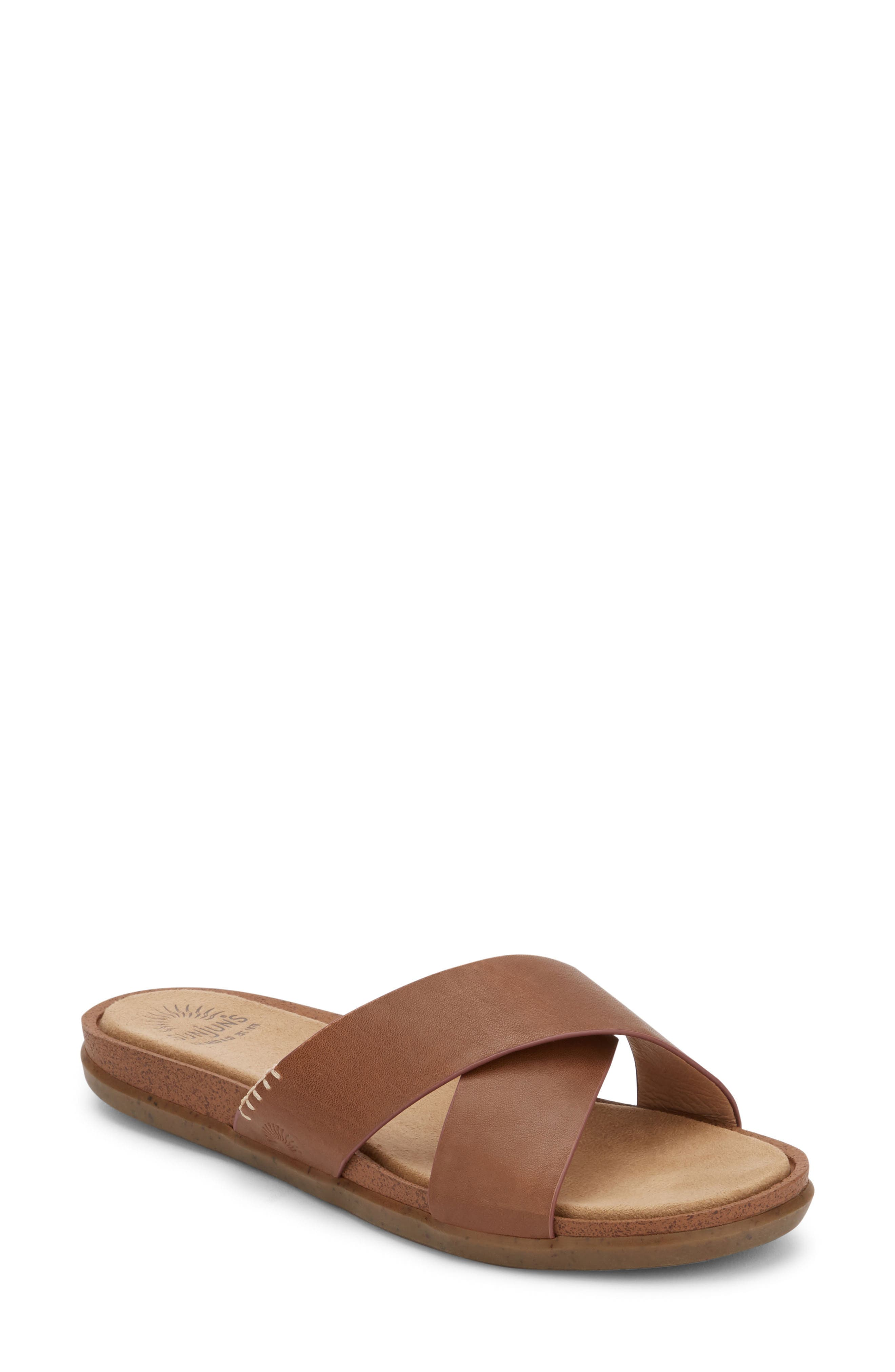 G.H. BASS & CO. Stella Slide Sandal in Berry Pink Suede