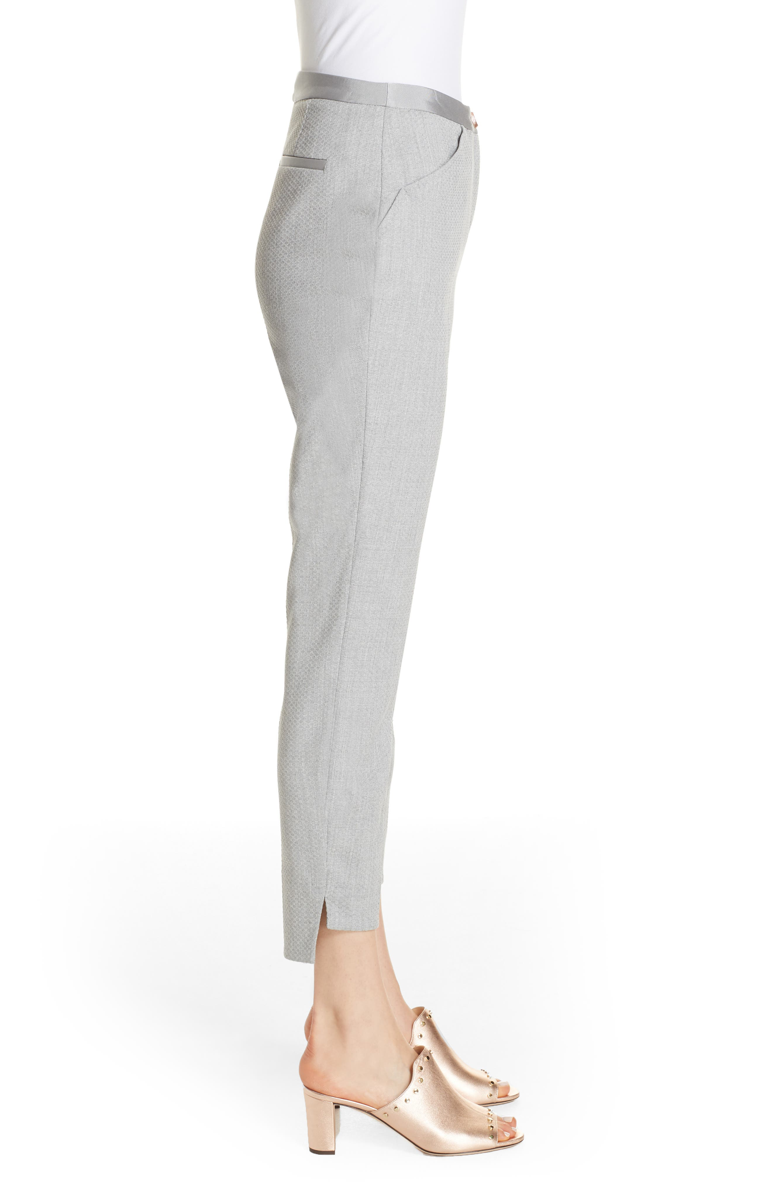 Ted Working Title Daizit Skinny Crop Pants,                             Alternate thumbnail 3, color,                             GREY