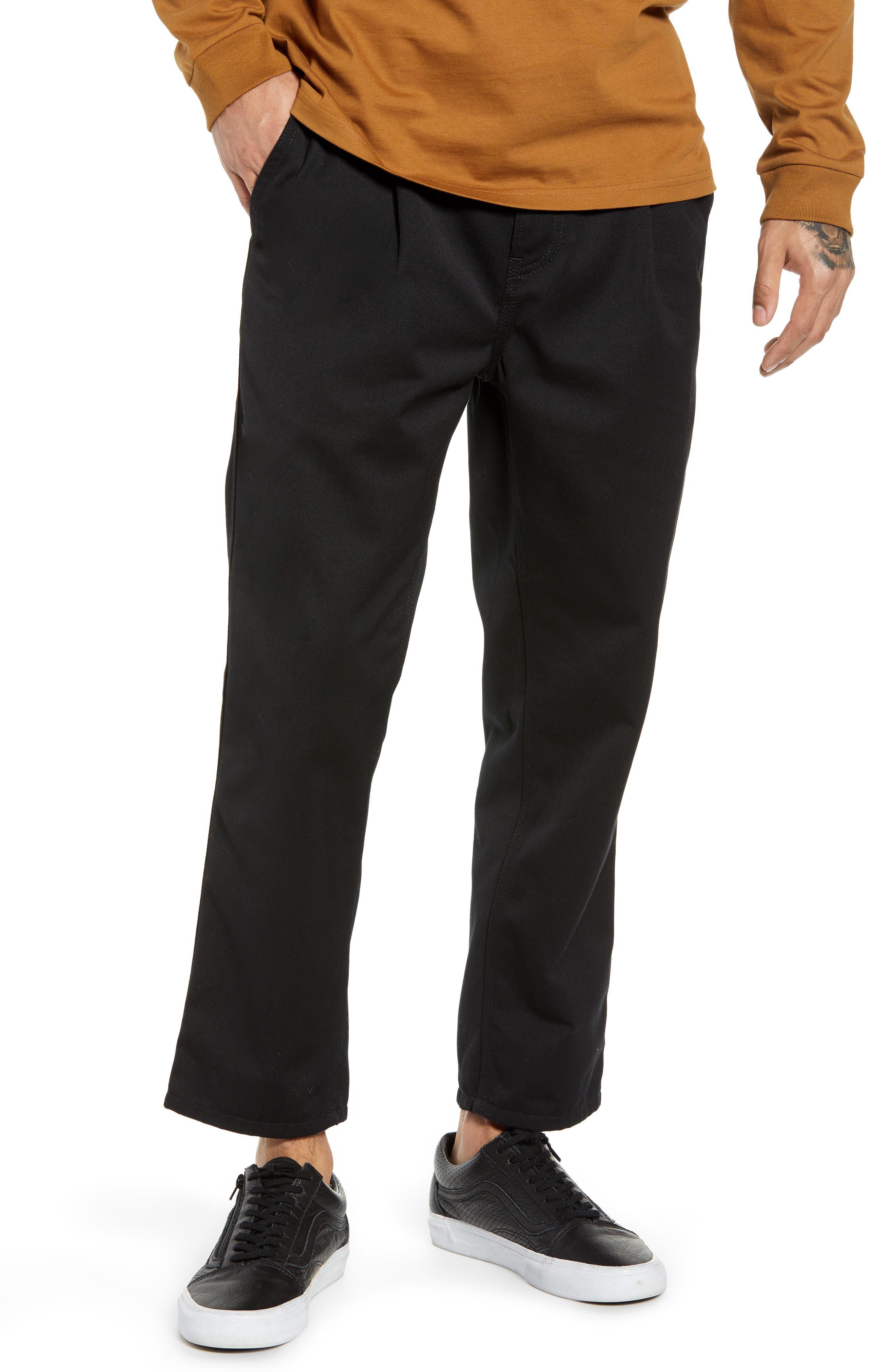 CARHARTT WORK IN PROGRESS Abbott Pants, Main, color, BLACK