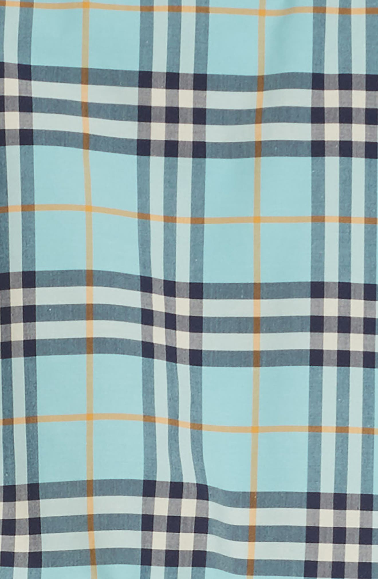 Mabel Check Dress,                             Alternate thumbnail 3, color,                             BRIGHT AQUA