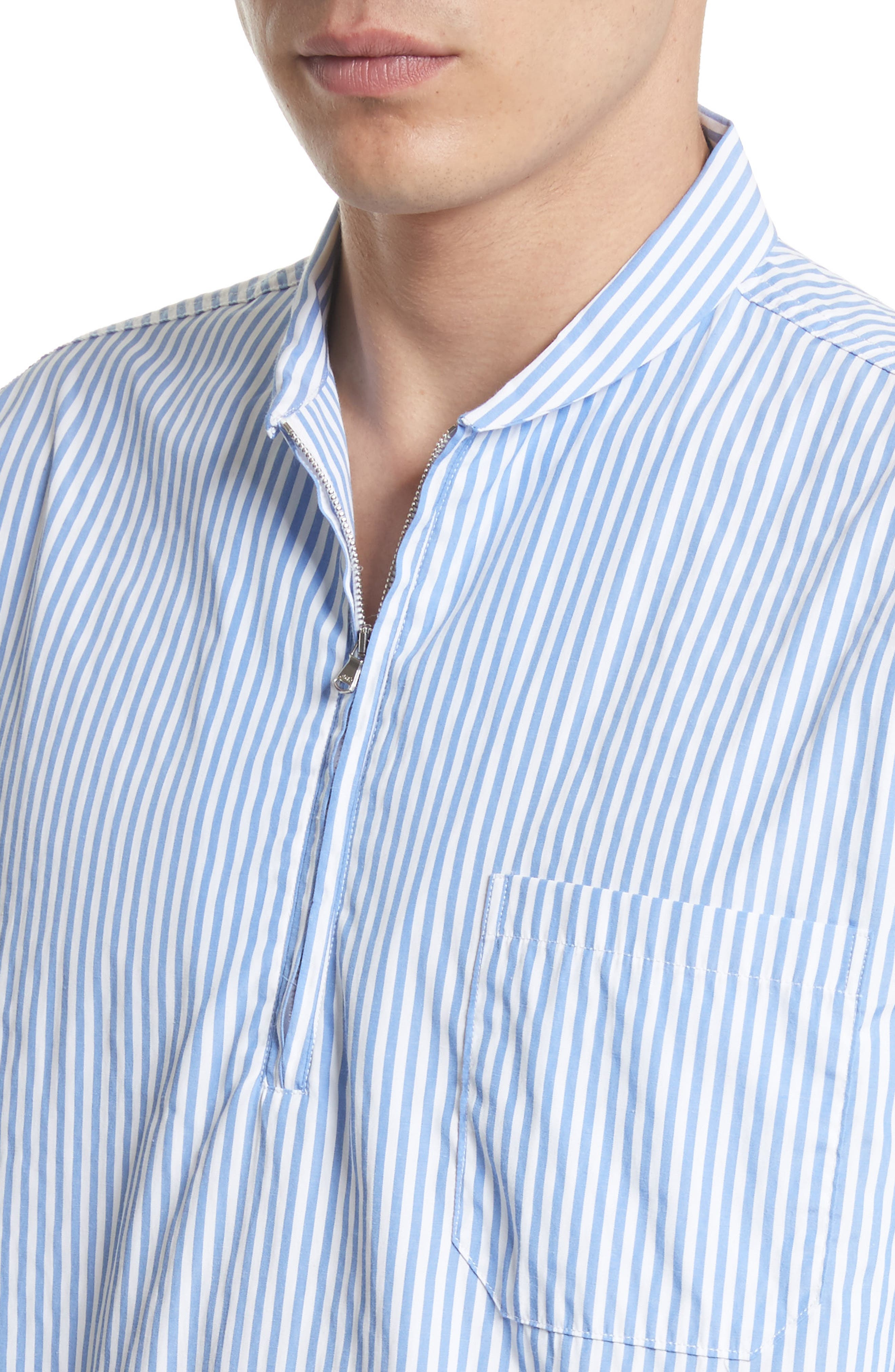 Shawl Collar Quarter Zip Shirt,                             Alternate thumbnail 5, color,