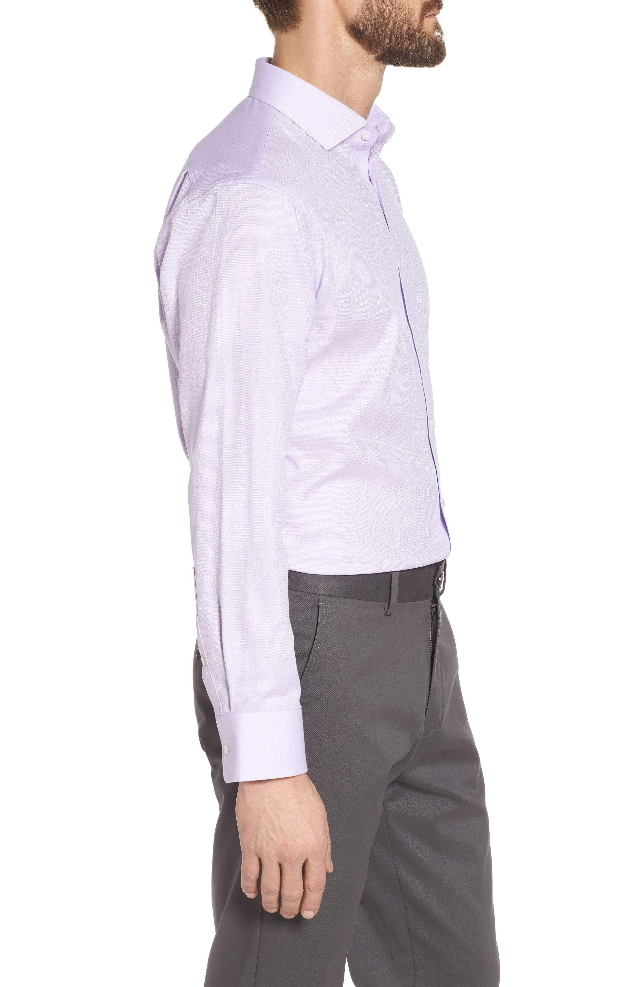 Trim Fit Solid Dress Shirt,                             Alternate thumbnail 4, color,                             530