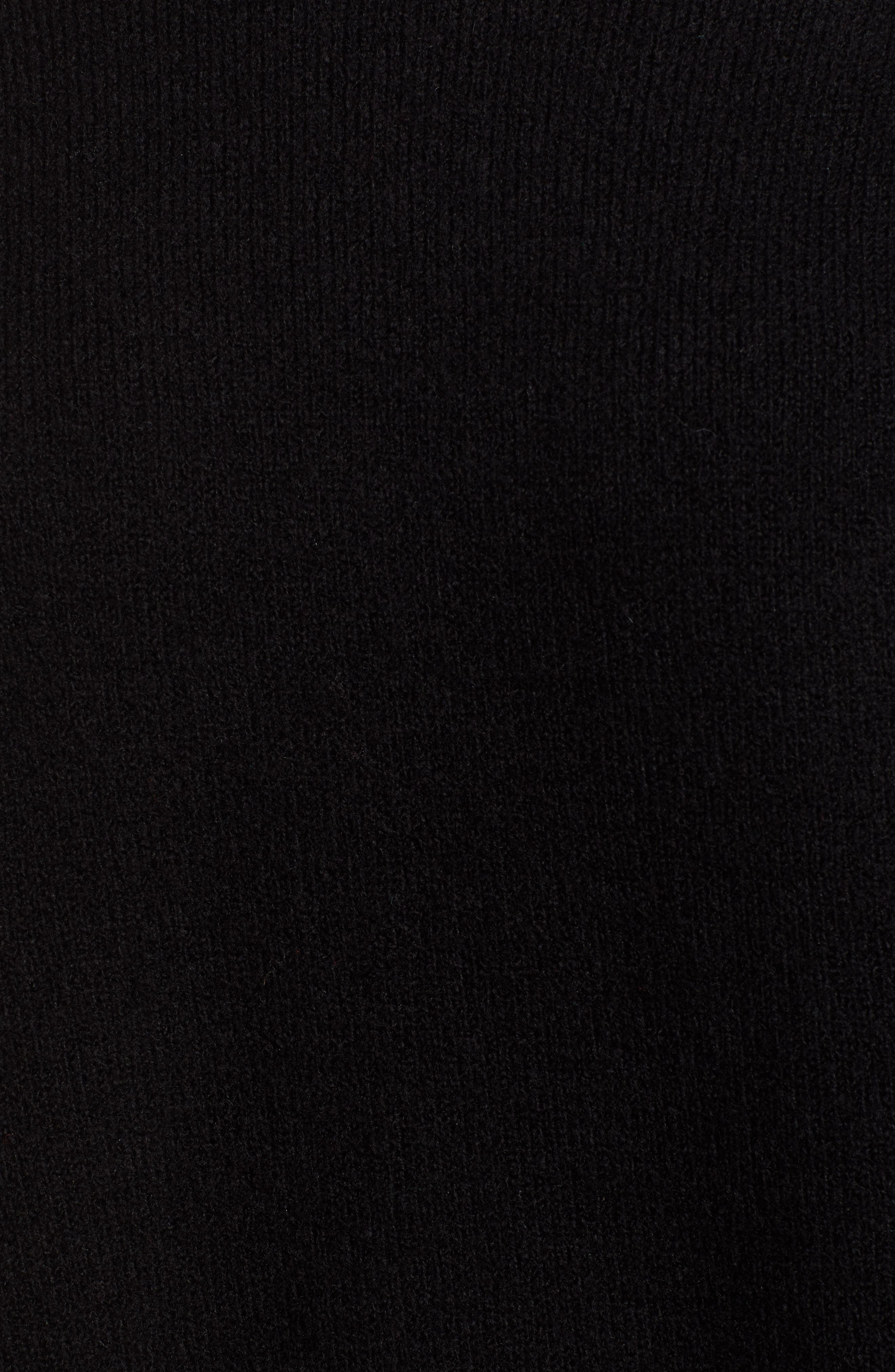 High Low Oversize Wool Blend Sweater,                             Alternate thumbnail 6, color,                             BLACK